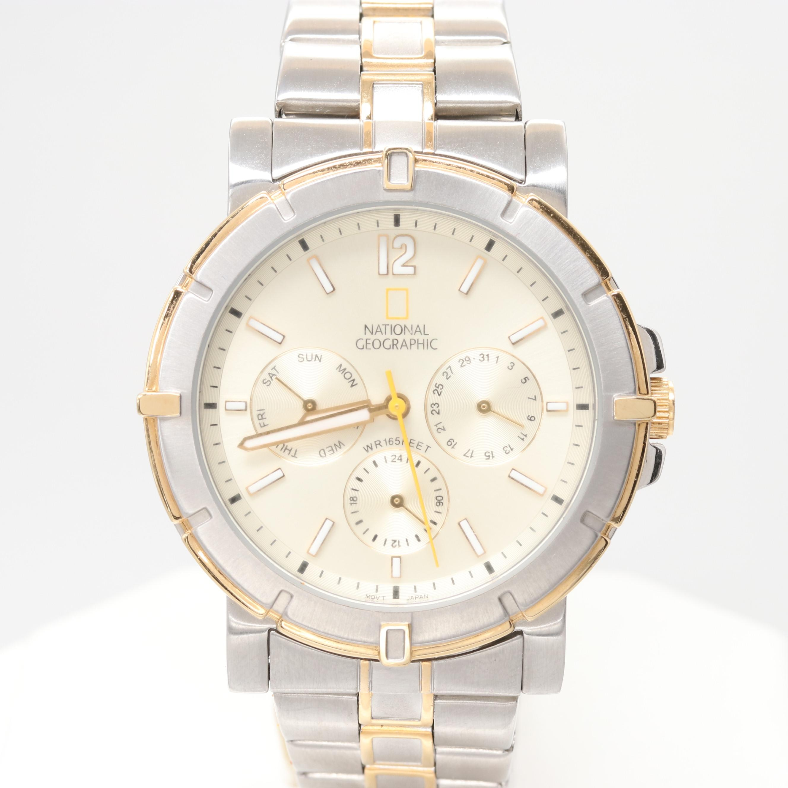 National Geographic Two-Tone Stainless Steel Wristwatch