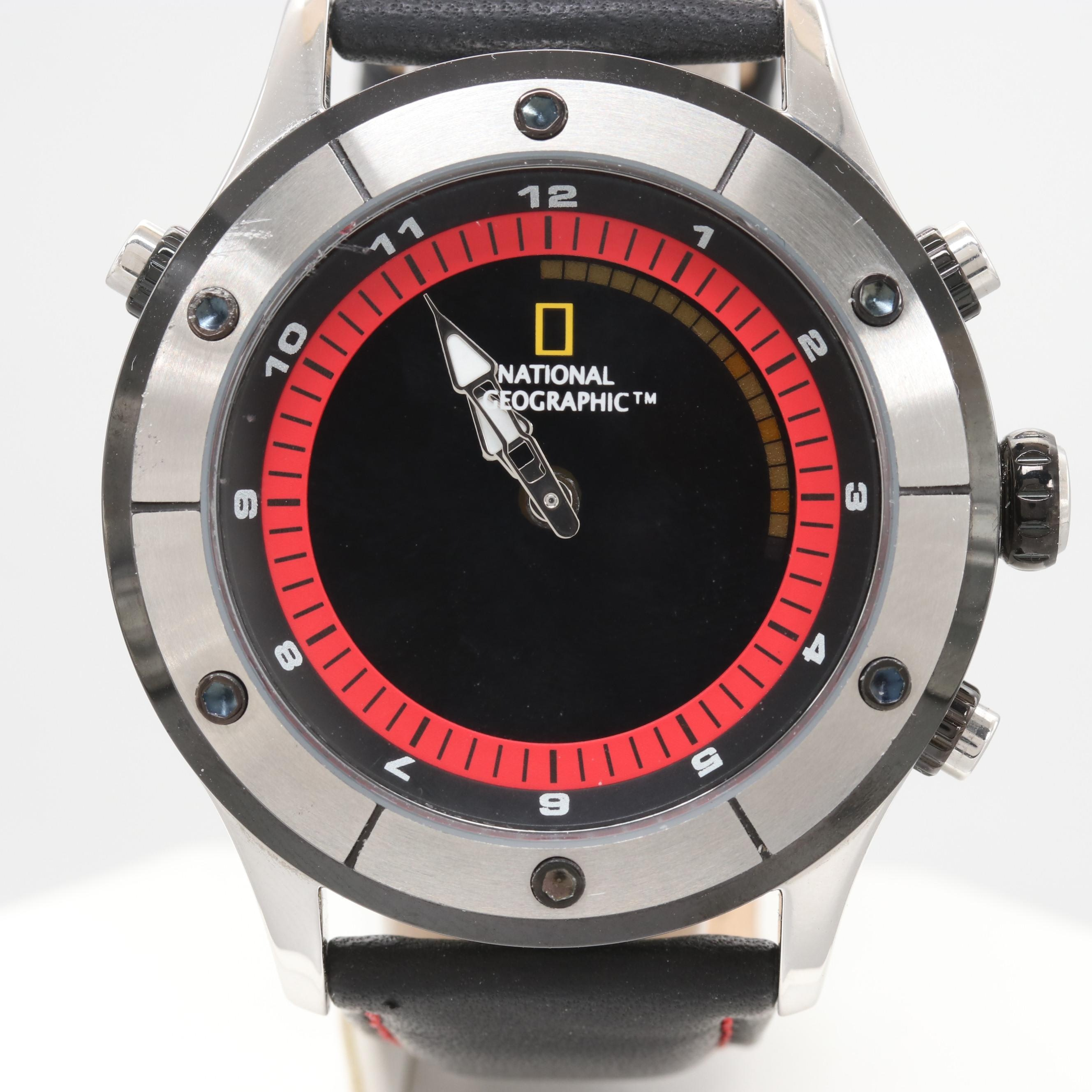 National Geographic Stainless Steel Digital and Analog Wristwatch