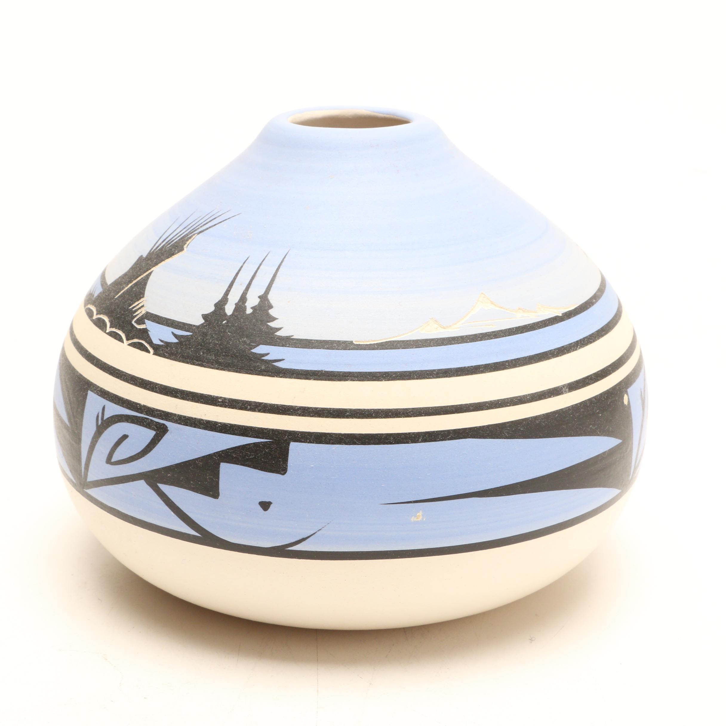 Signed Cedar Mesa Navajo Pottery Vase