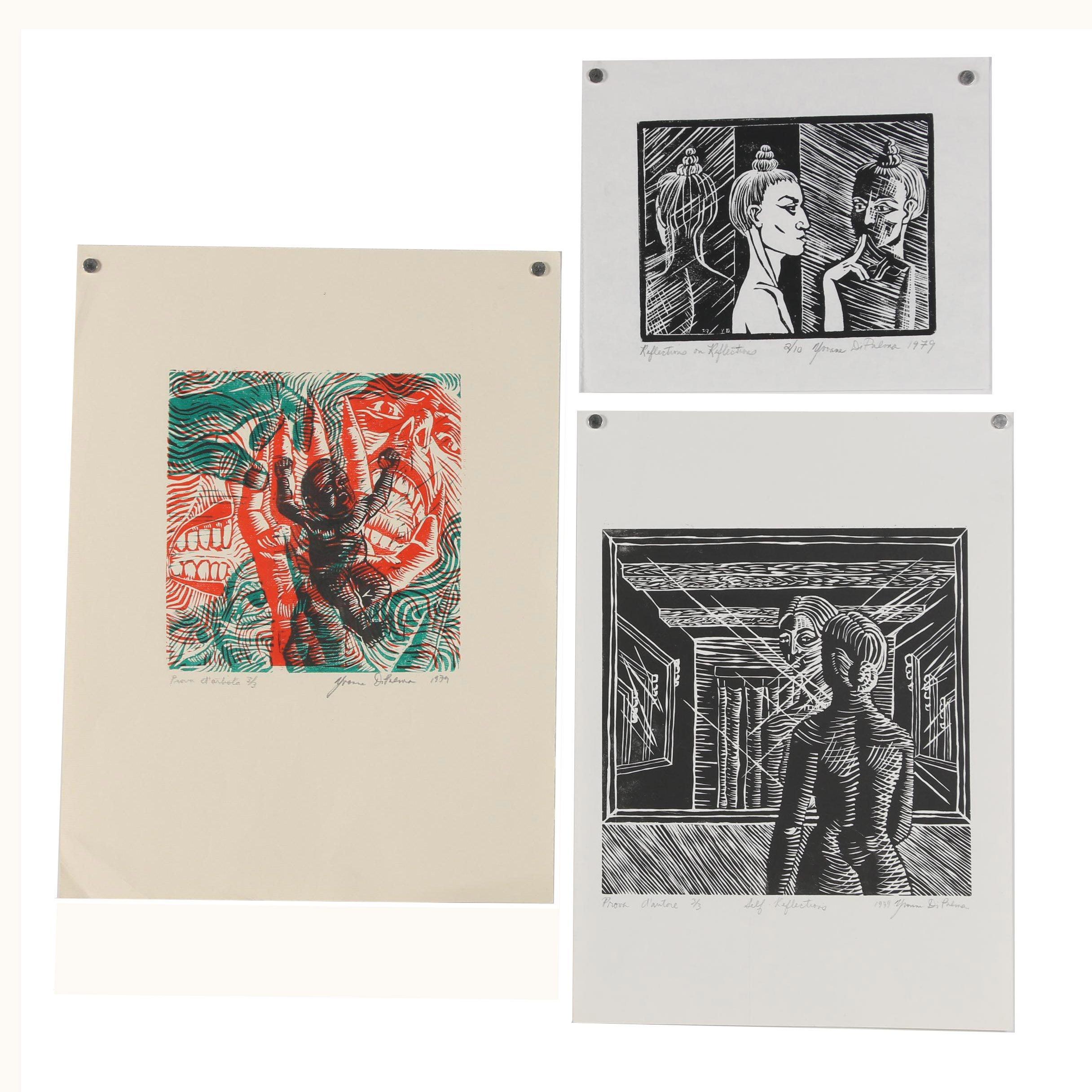 Yvonne DiPalma 1979 Woodcut Prints