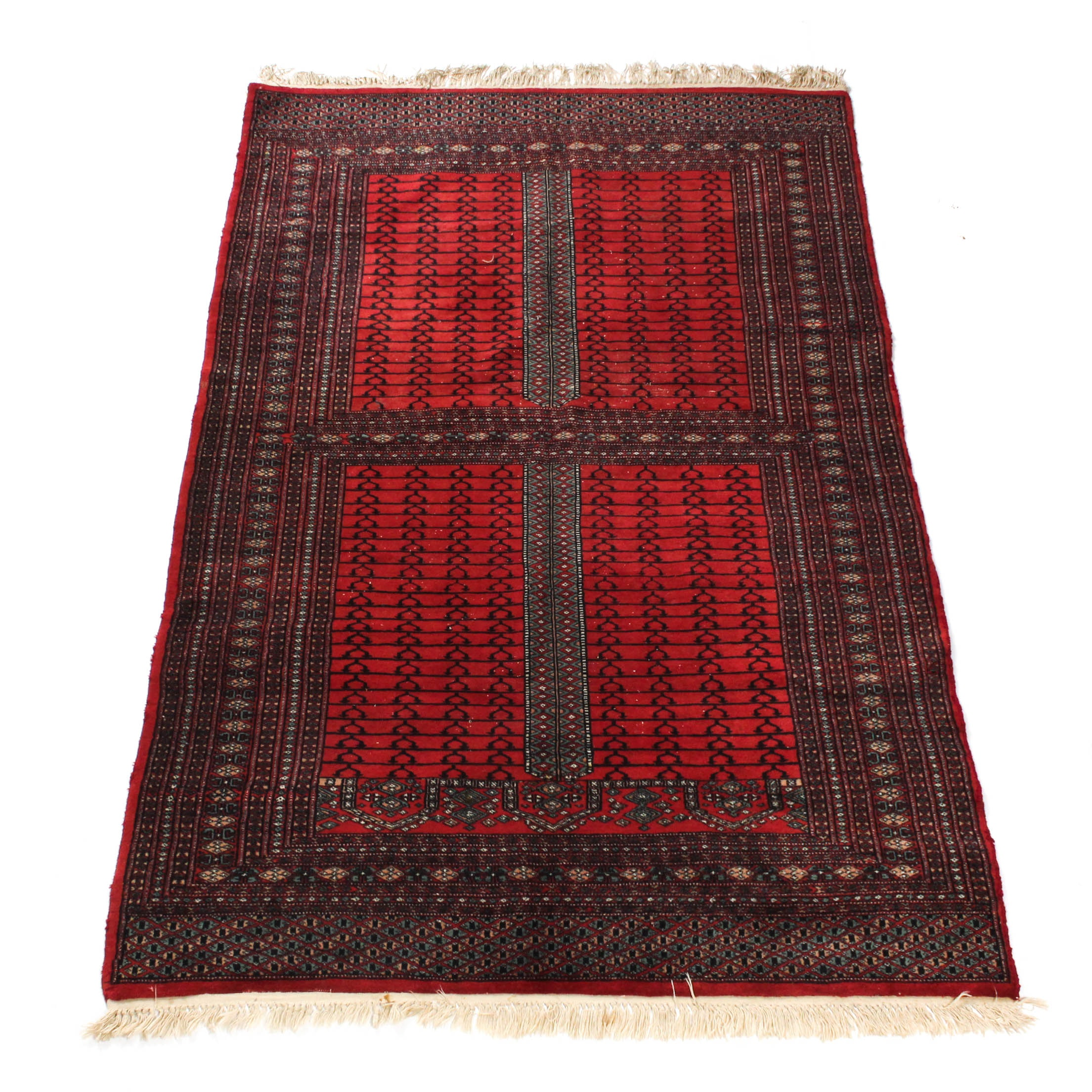 Semi-Antique Hand Knotted Pakistani Turkoman Bokhara Rug