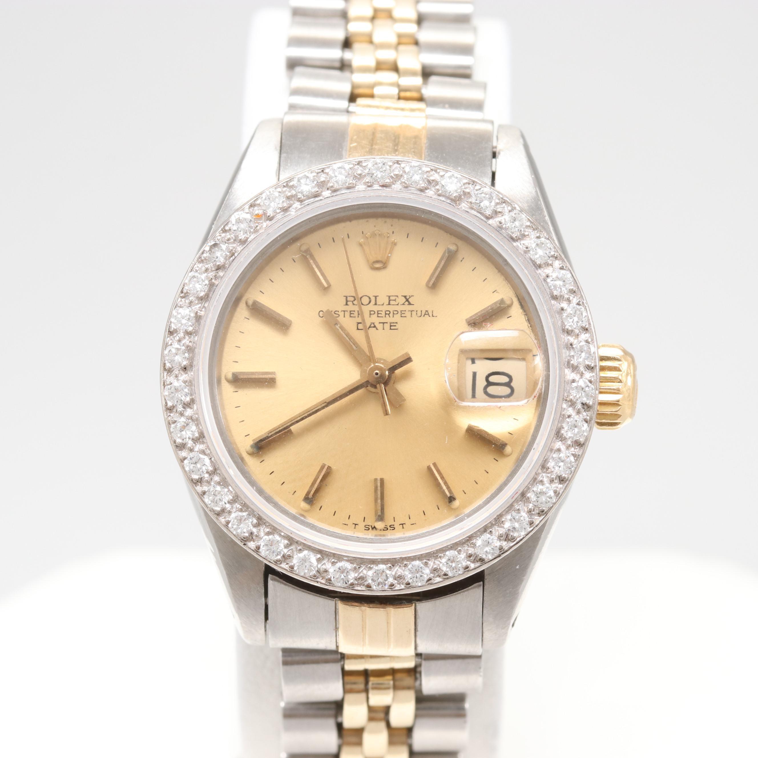 Circa 1978 Rolex Two-Tone Diamond Rolex Wristwatch