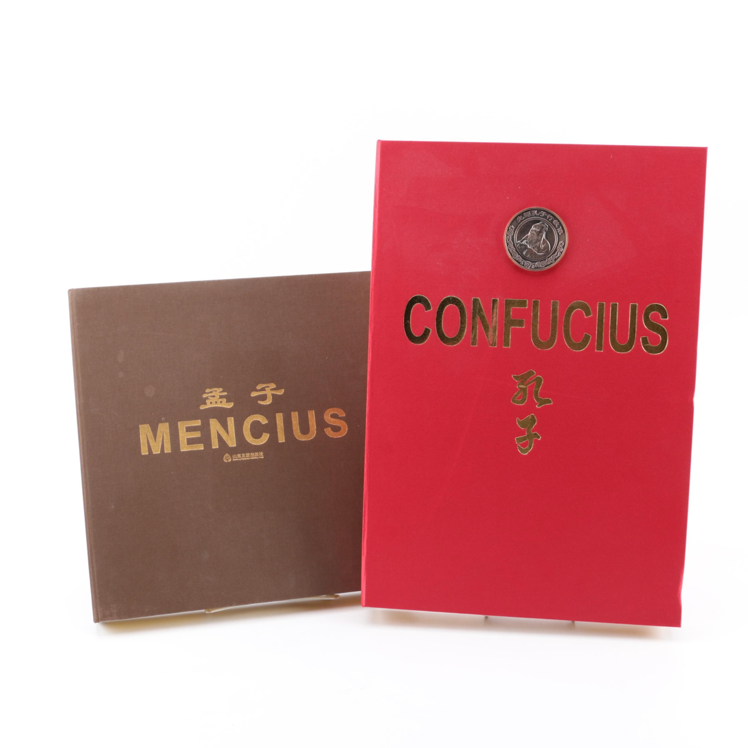 "Signed ""Confucius"" and ""Mencius"" Commemorative Books"