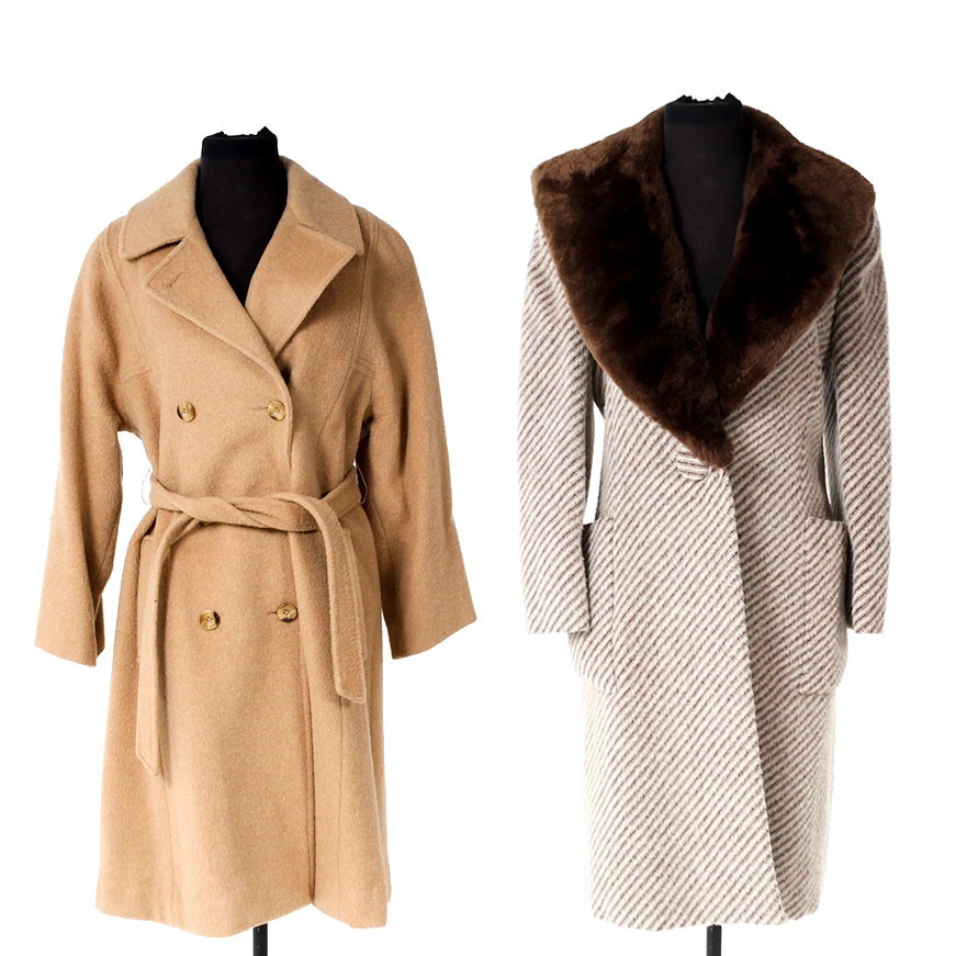 Women's Vintage Wool Winter Coats