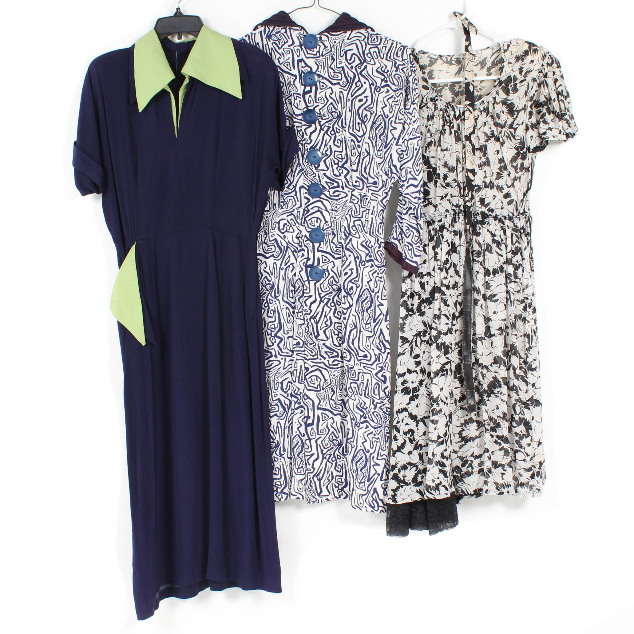 Women's Vintage Day Dresses Featuring Cirilo