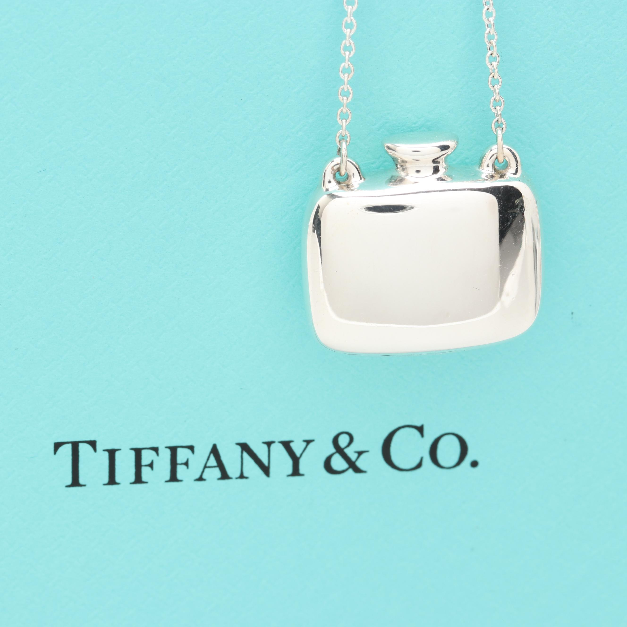 Elsa Peretti for Tiffany & Co. Sterling Silver Bottle Station Pentant Necklace