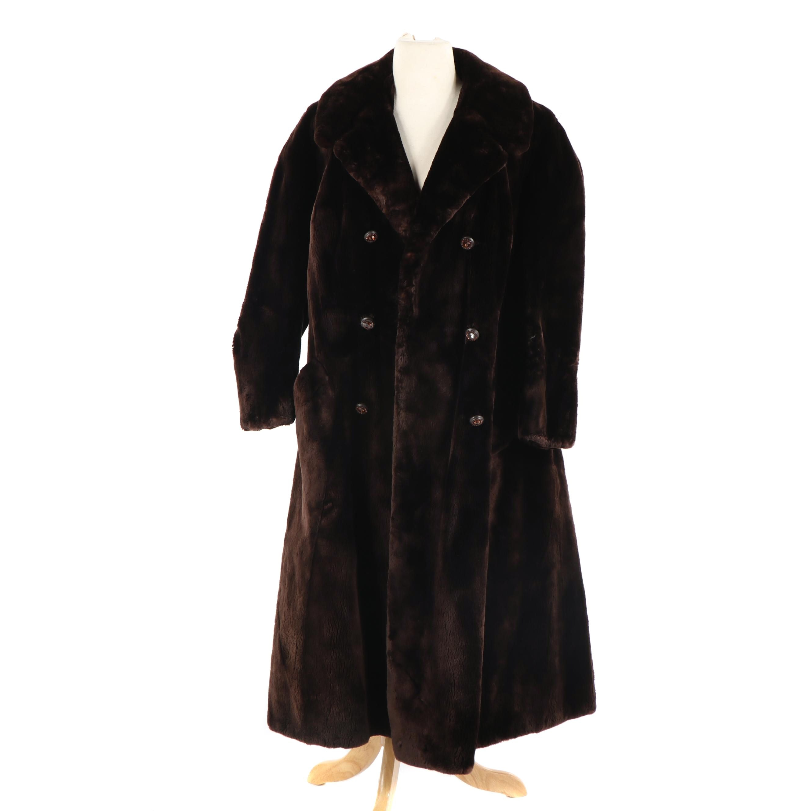 Vintage Alfreda Fur by Goldstrom Sheared Beaver Double-Breasted Fur Coat