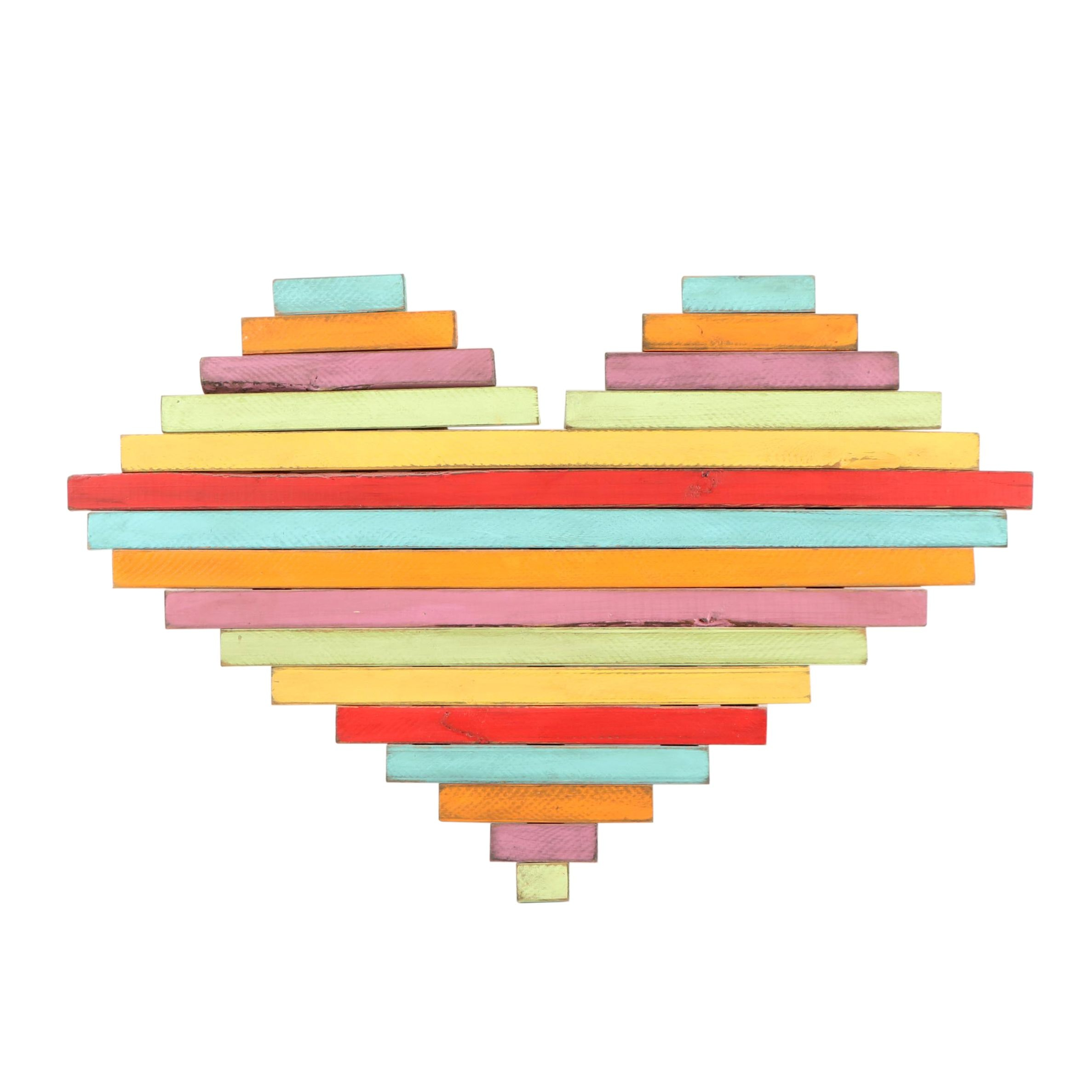 Lisa Steele Up-Cycled Wood Heart Painting