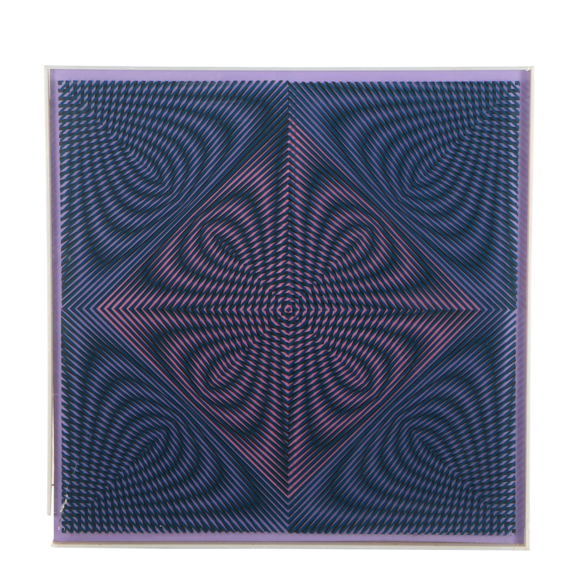William Leete Multidimensional Serigraph on Plexiglas