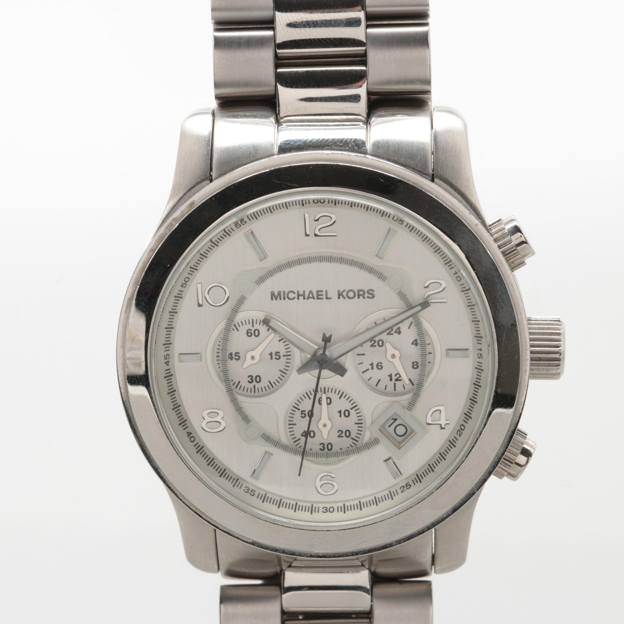 Michael Kors Stainless Steel Model MK-8086 Chronograph Wristwatch