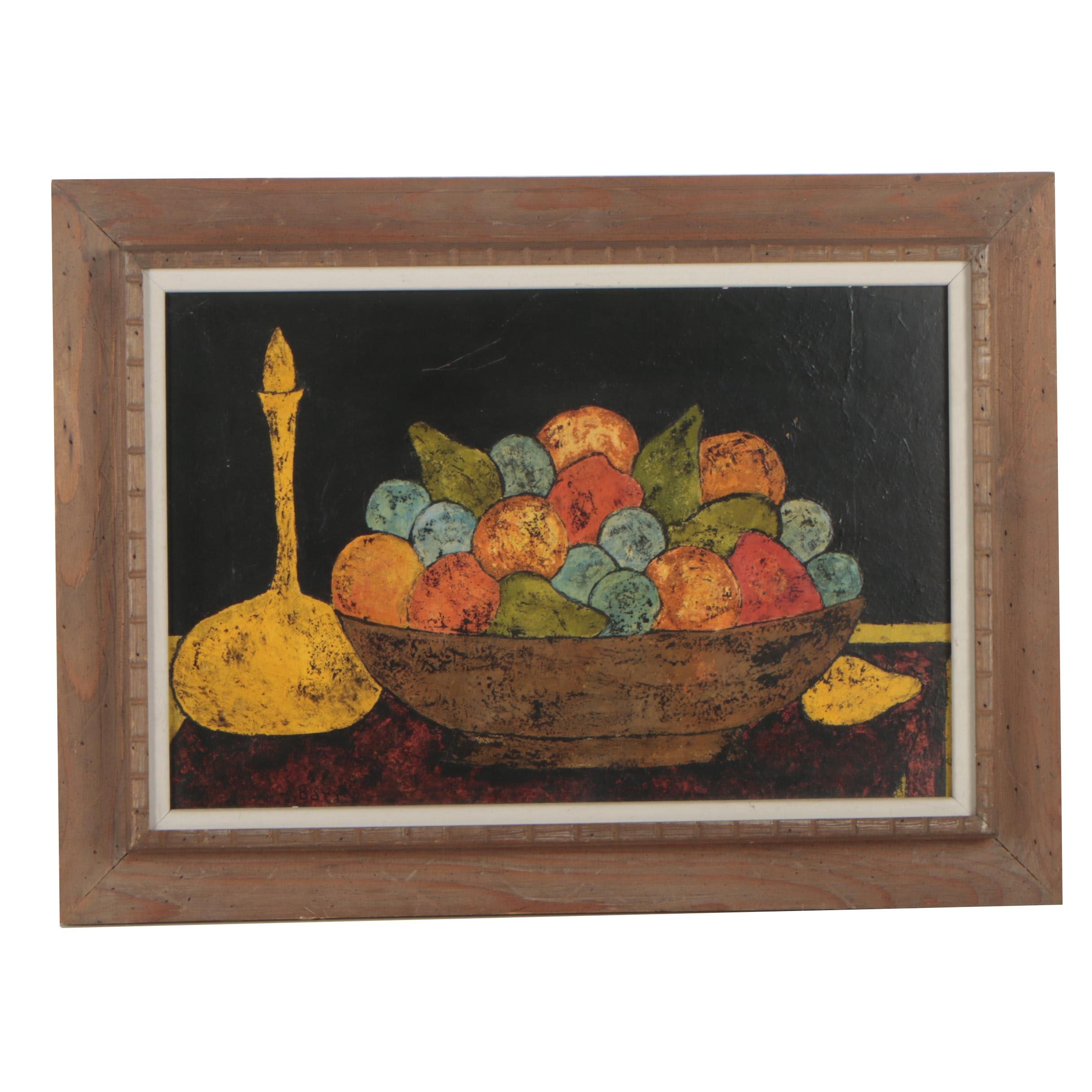 Frank Barry Modern Still Life Oil Painting
