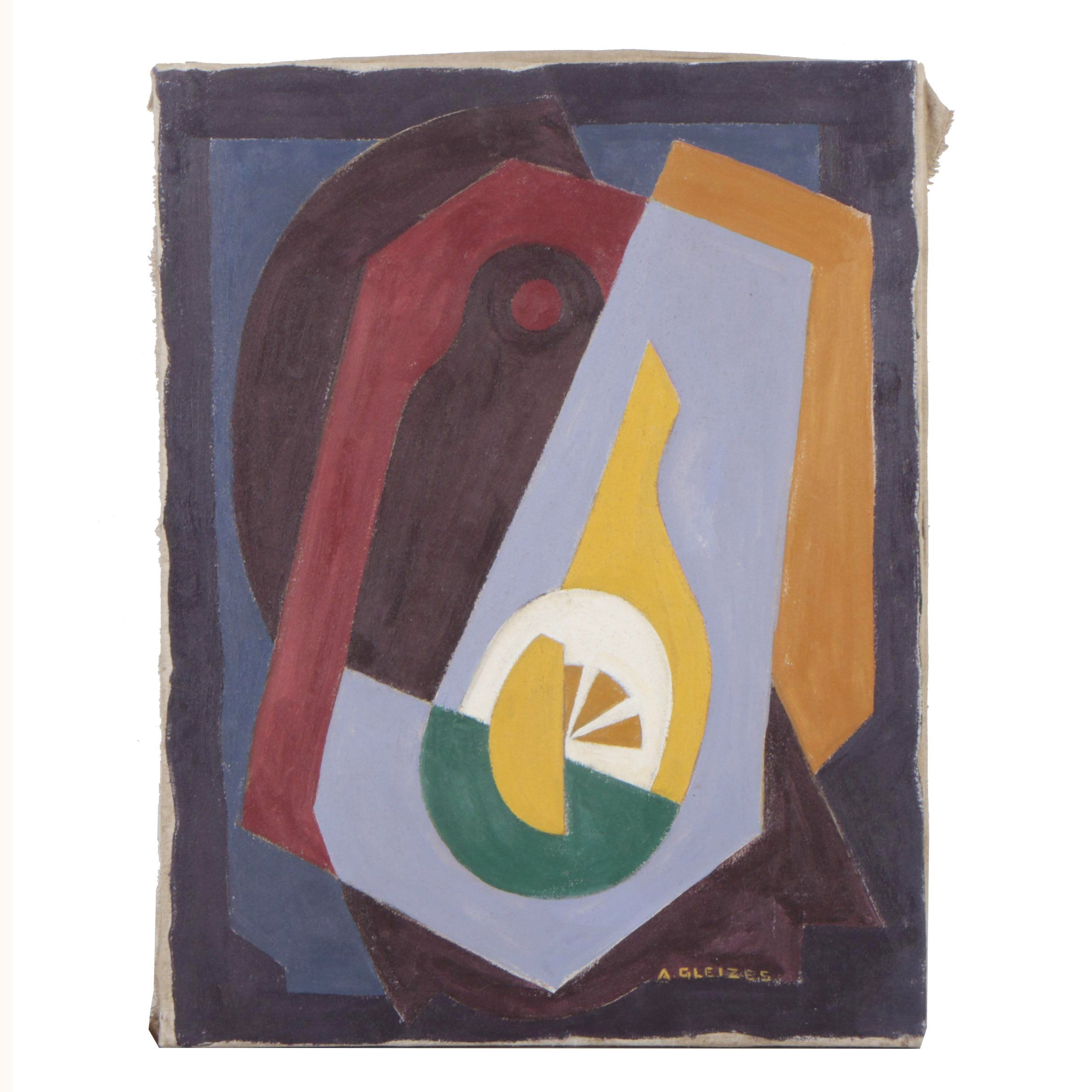 "Copy Oil Painting in the Manner of Albert Gleizes ""Composition"""