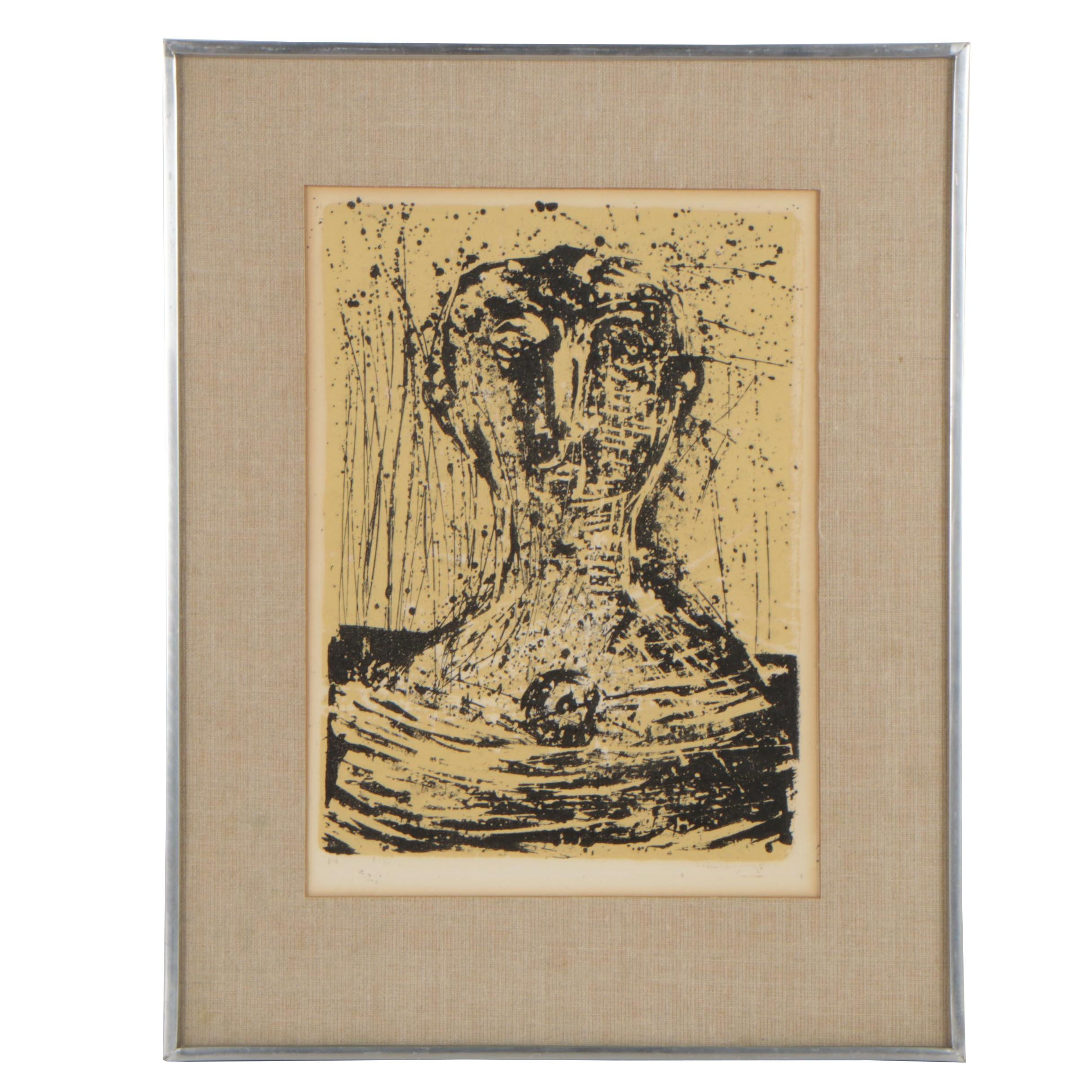 Mid 20th Century Abstract Color Lithograph