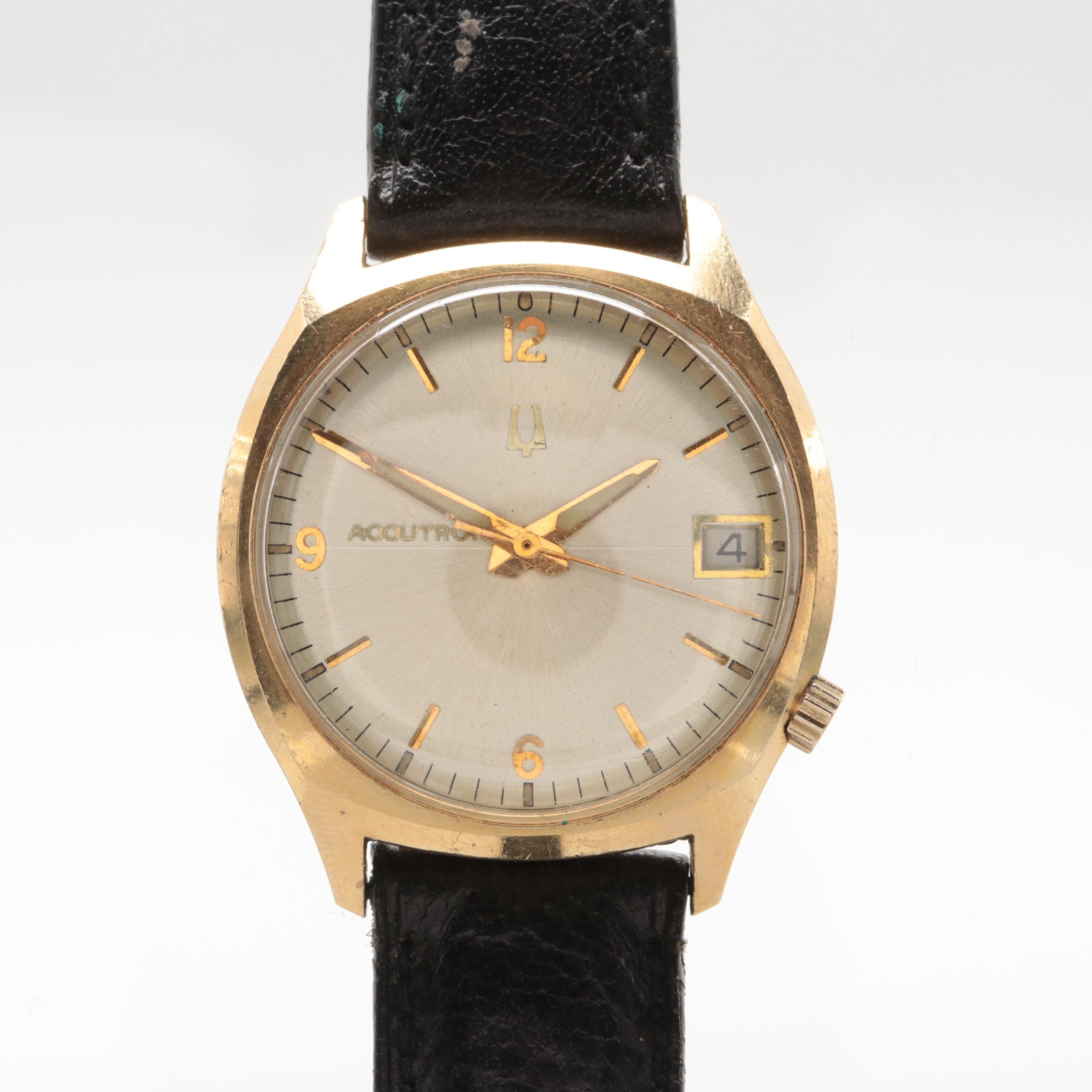 Accutron 14K Gold Filled Wristwatch