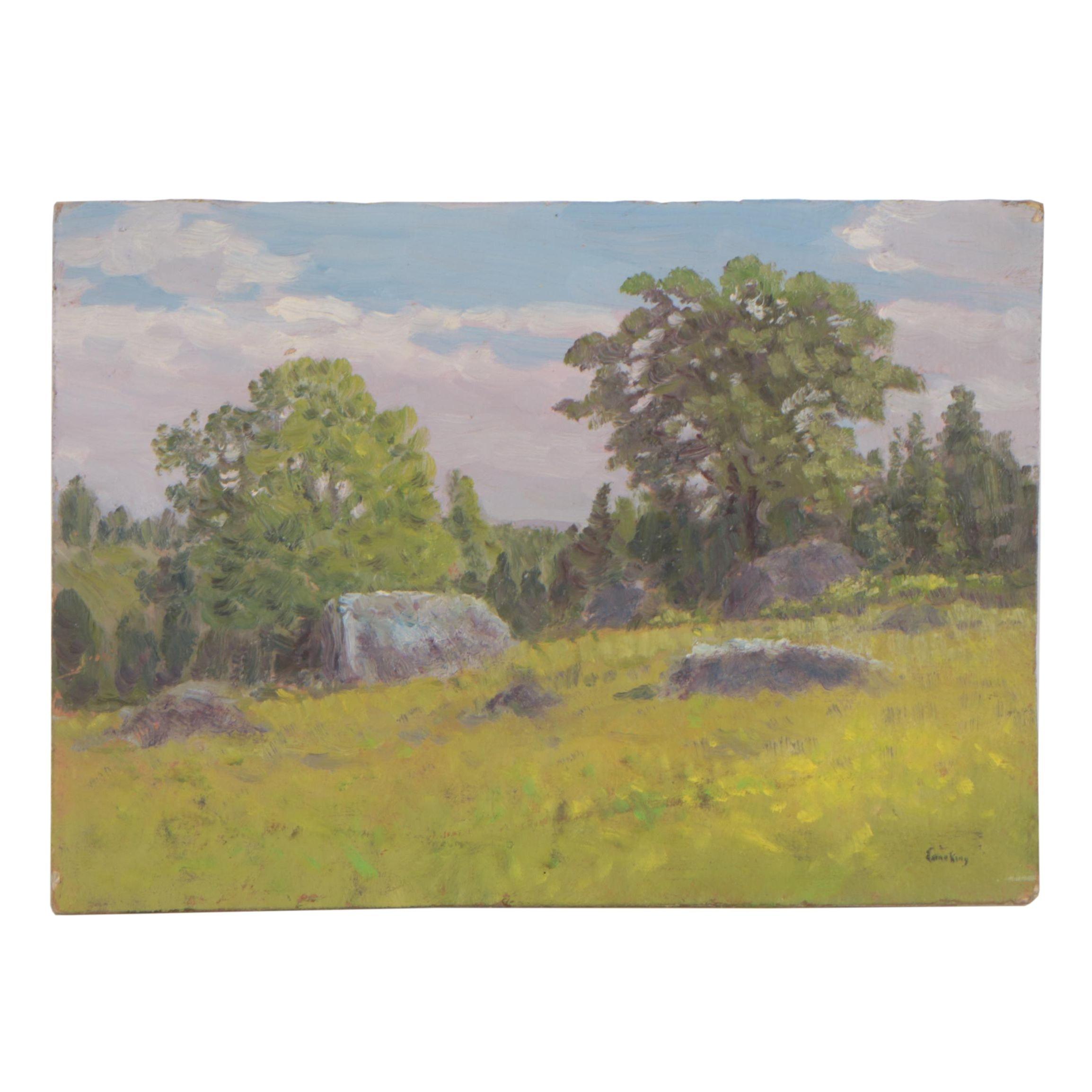 Landscape Oil Painting in the Manner of John Joseph Enneking