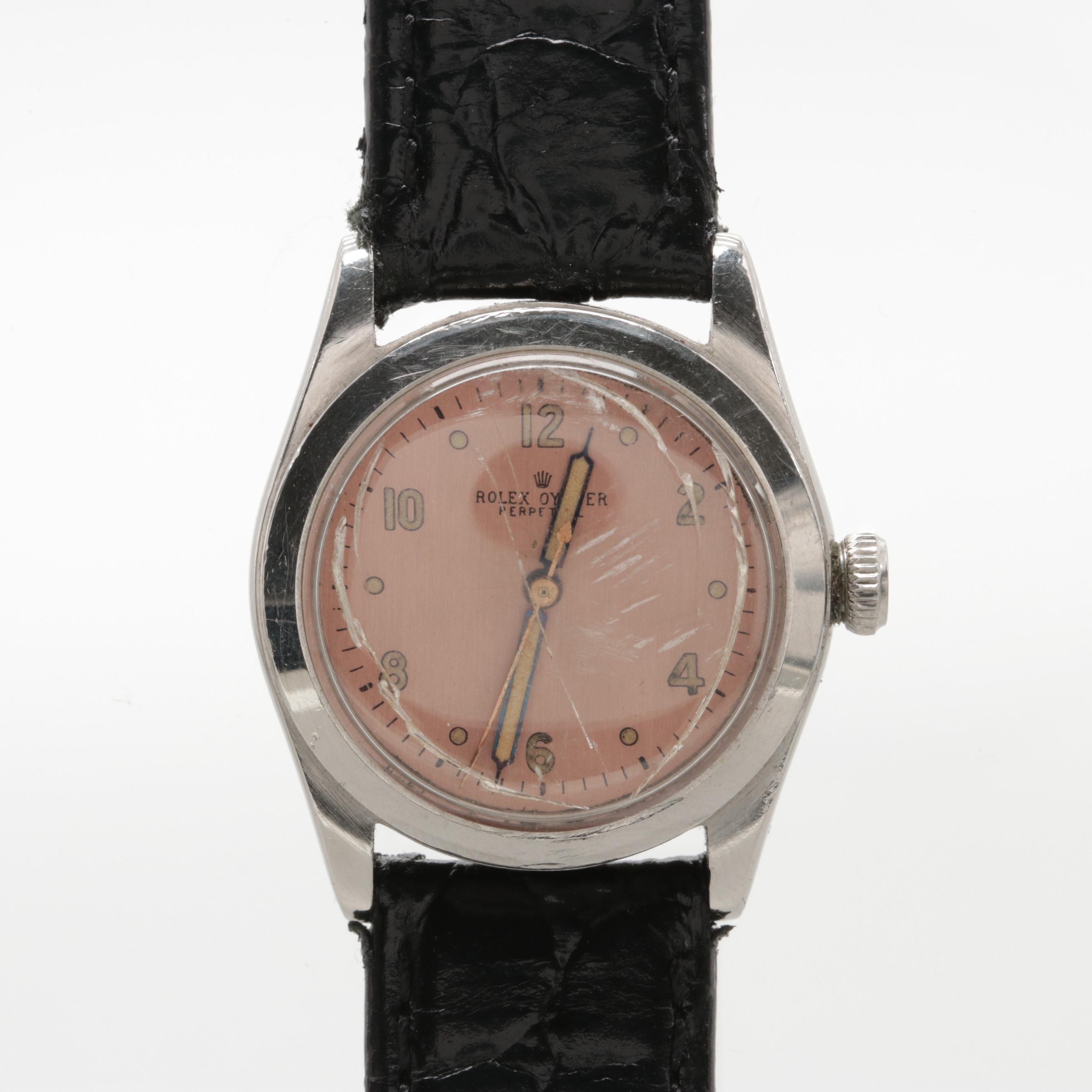 Circa 1946 Rolex Oyster Perpetual Wristwatch