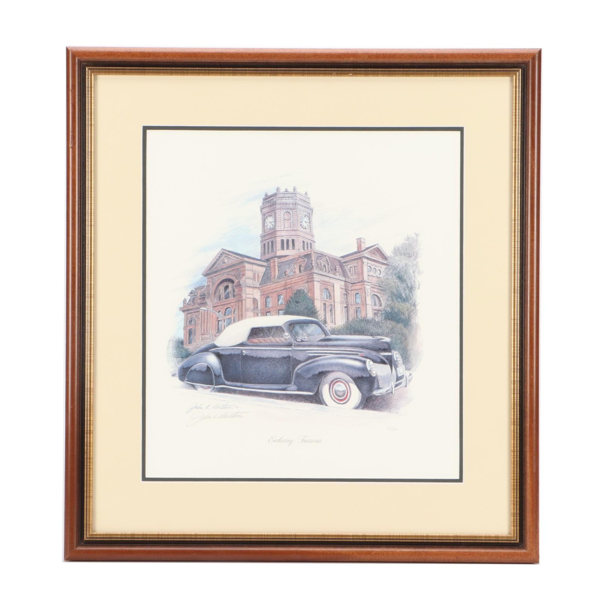 """John Ruthven Limited Edition Offset Lithograph """"Enduring Treasures"""""""