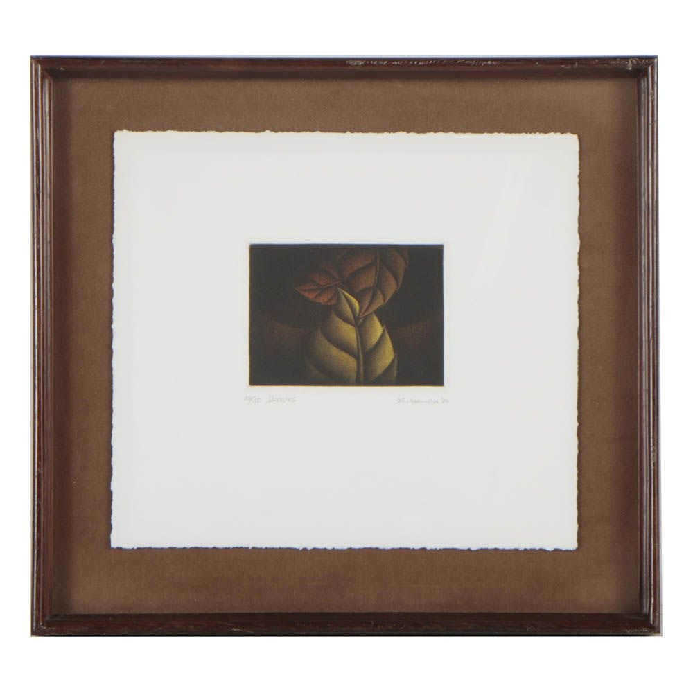"Kazuhisa Honda Color Mezzotint ""Leaves"""