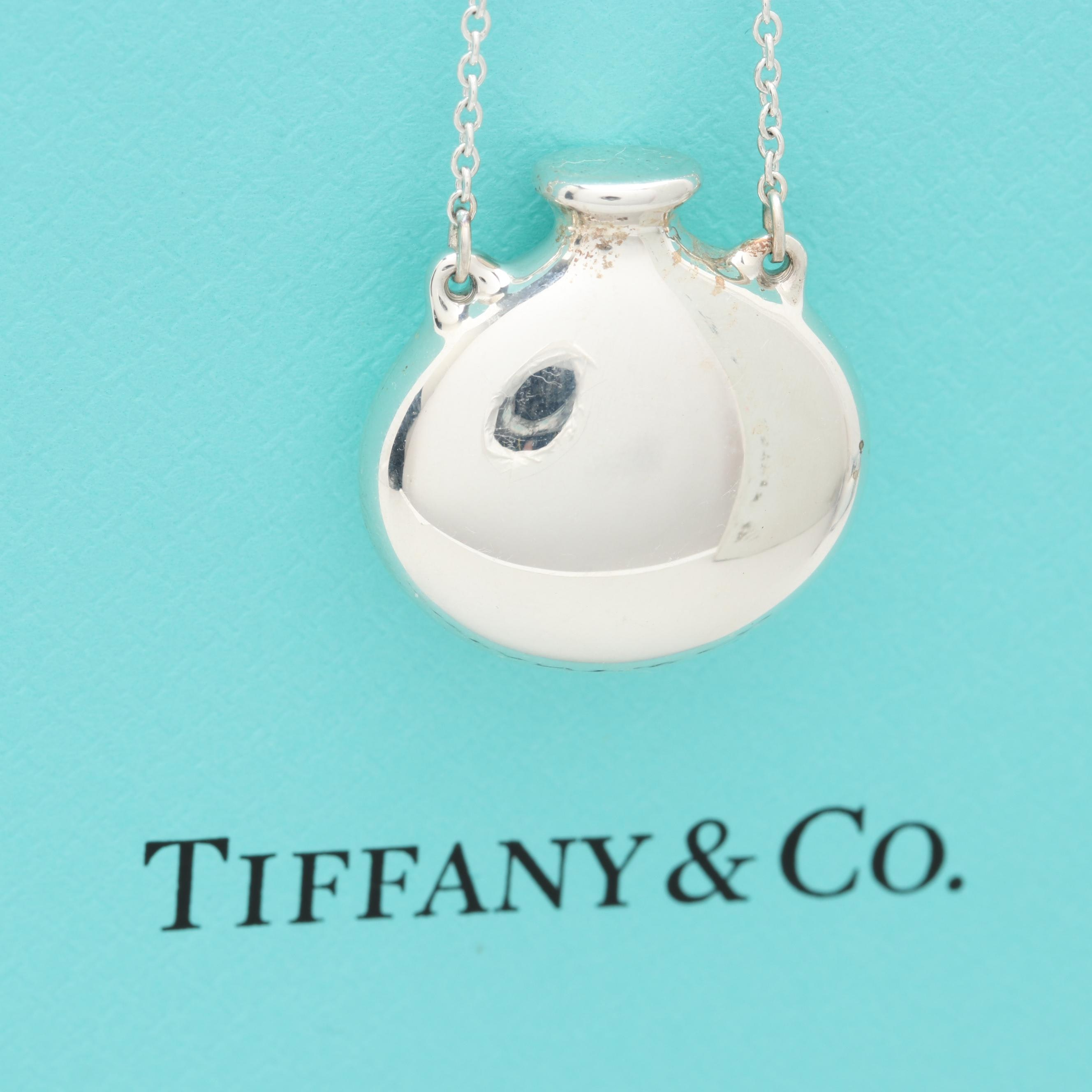 Elsa Peretti for Tiffany & Co. Sterling Silver Bottle Station Pendant Necklace