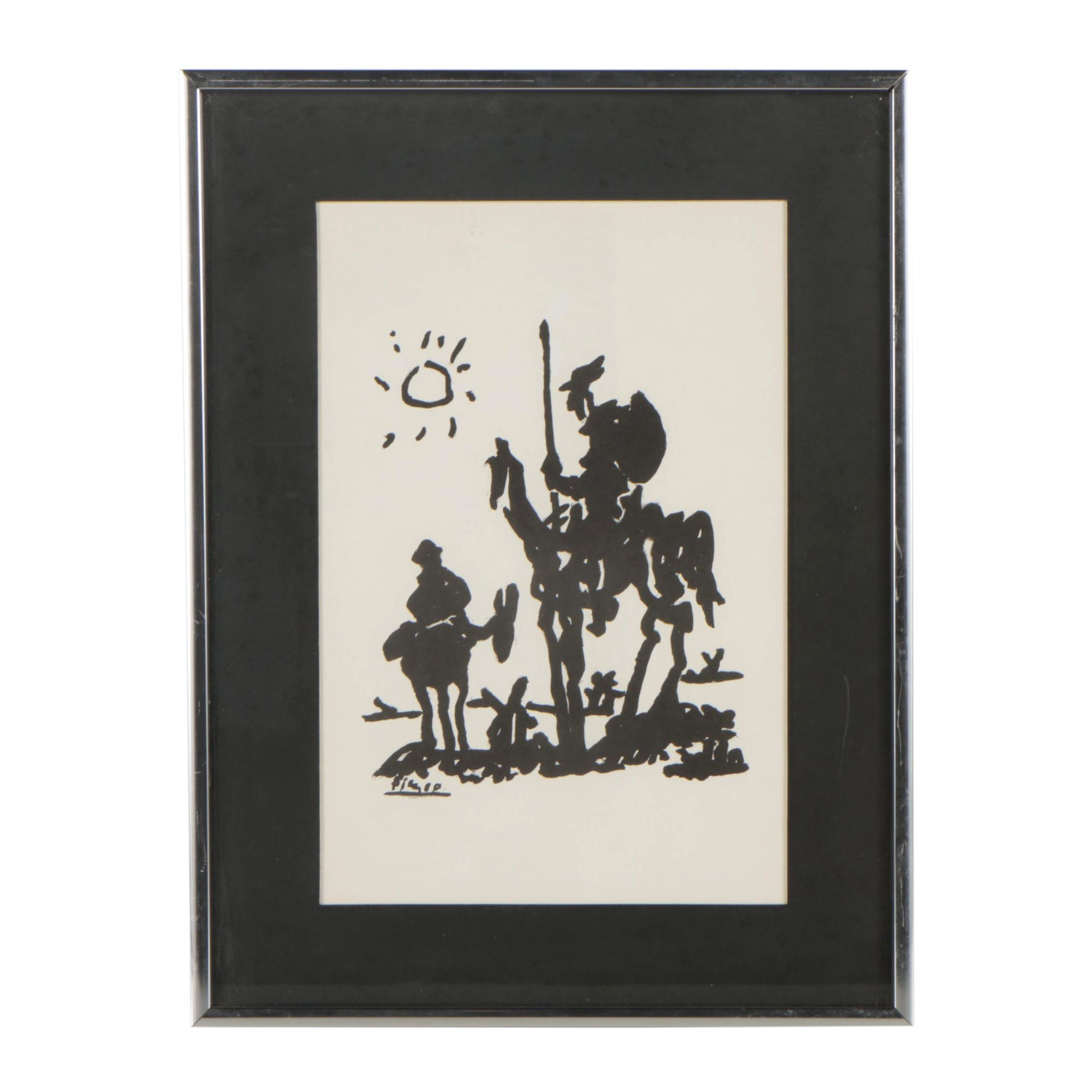 "Lithograph after Pablo Picasso ""Don Quixote"""