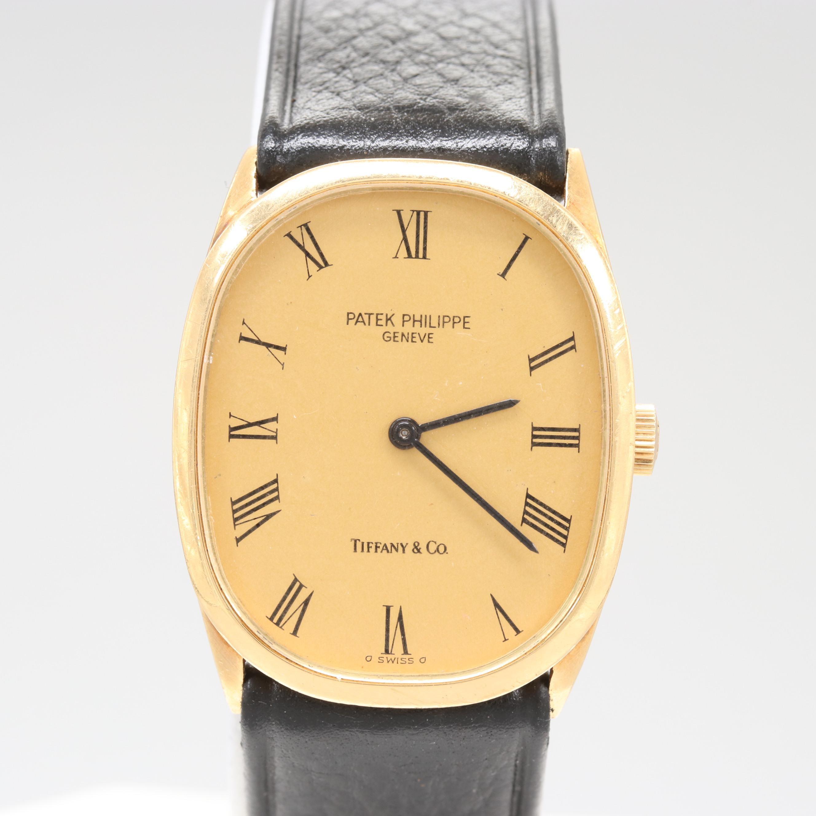 Vintage Patek Philippe for Tiffany & Co. Golden Ellipse Wristwatch