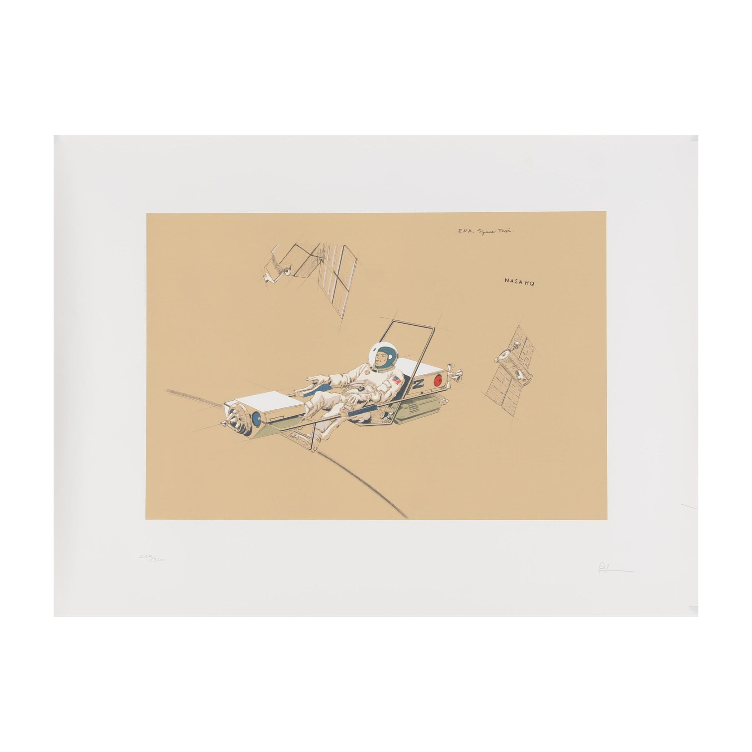 "Raymond Loewy Lithograph ""Space Maintenance"""