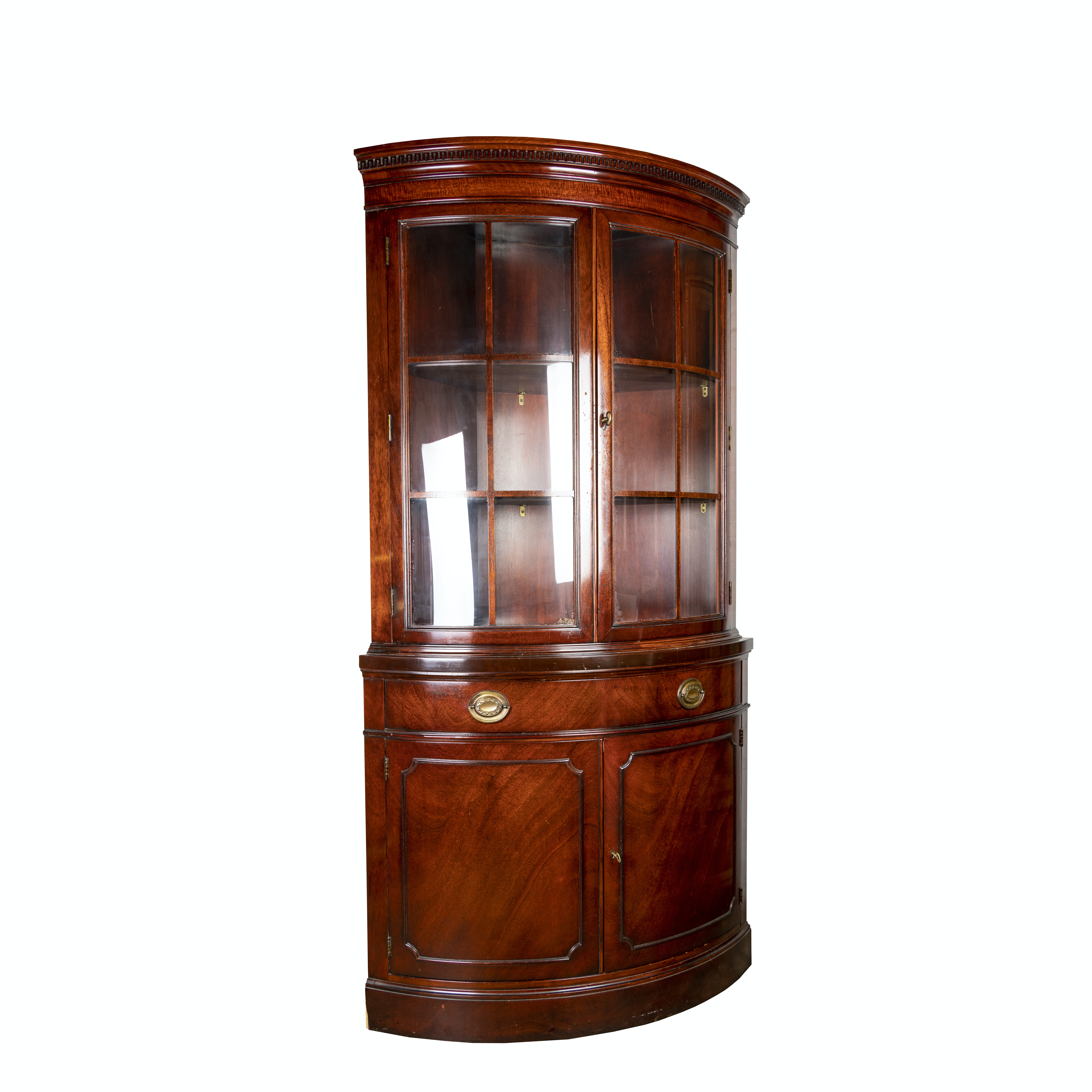 """""""New Travis Court"""" Mahogany Corner Cabinet by Drexel, Late 20th Century"""