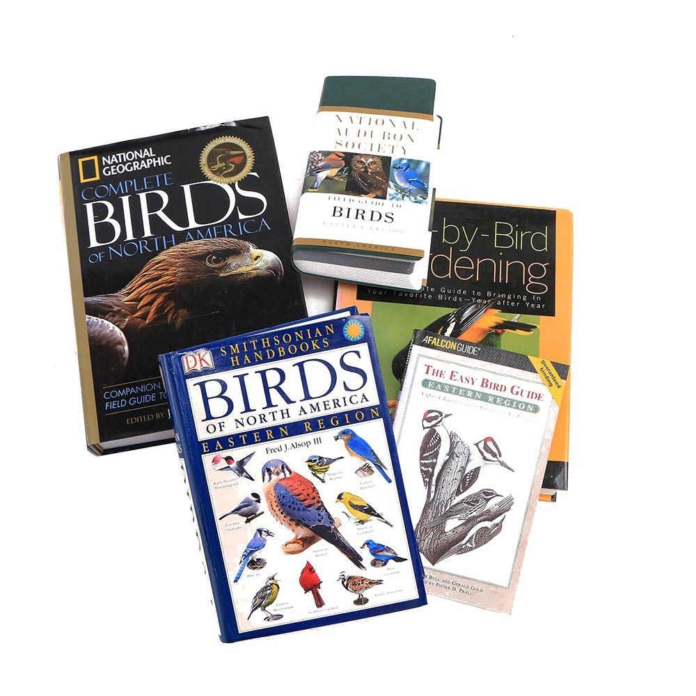 Books on Birds featuring National Geographic and National Audubon Society