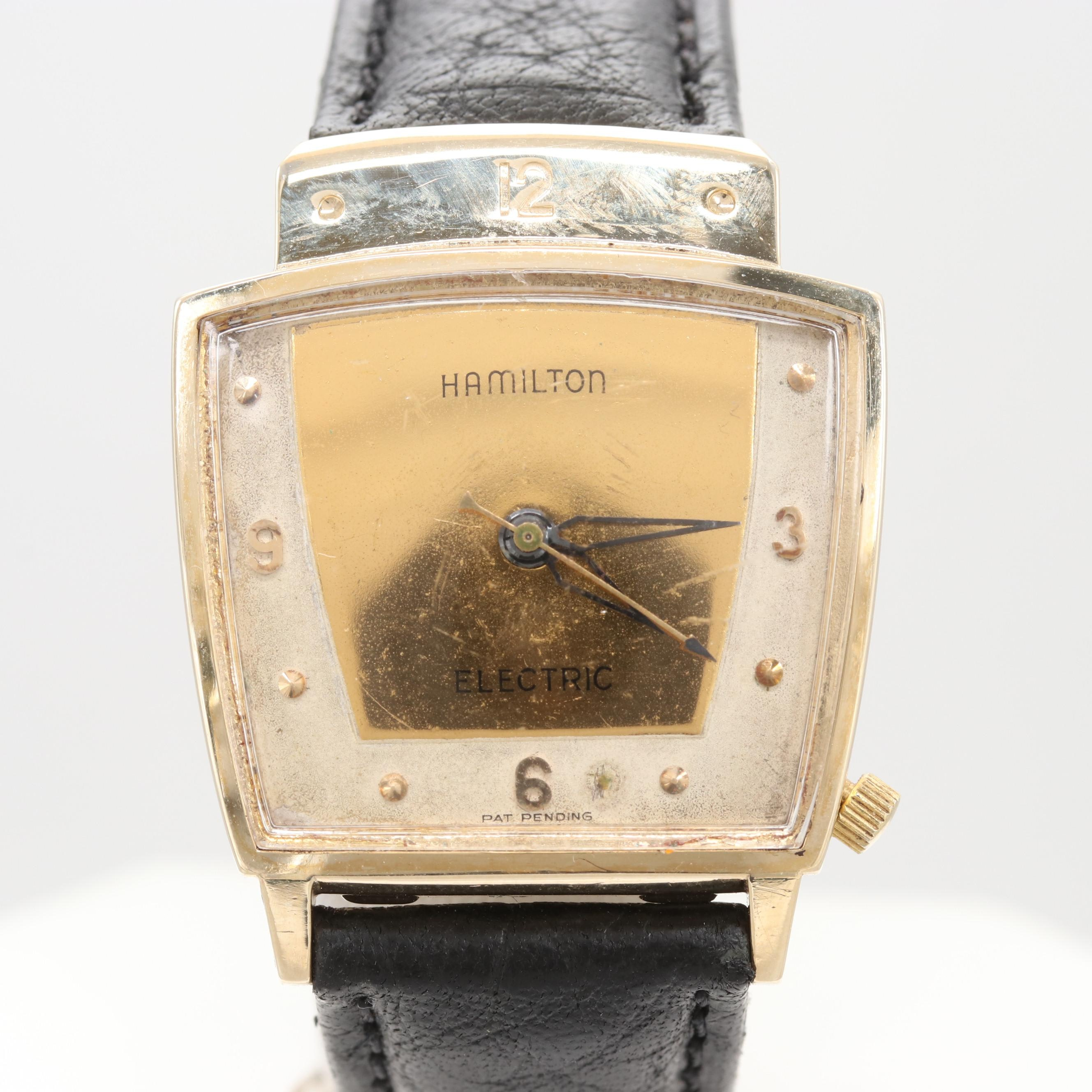 Circa 1957 Hamilton 10K Gold Filled Everest Electric Wristwatch