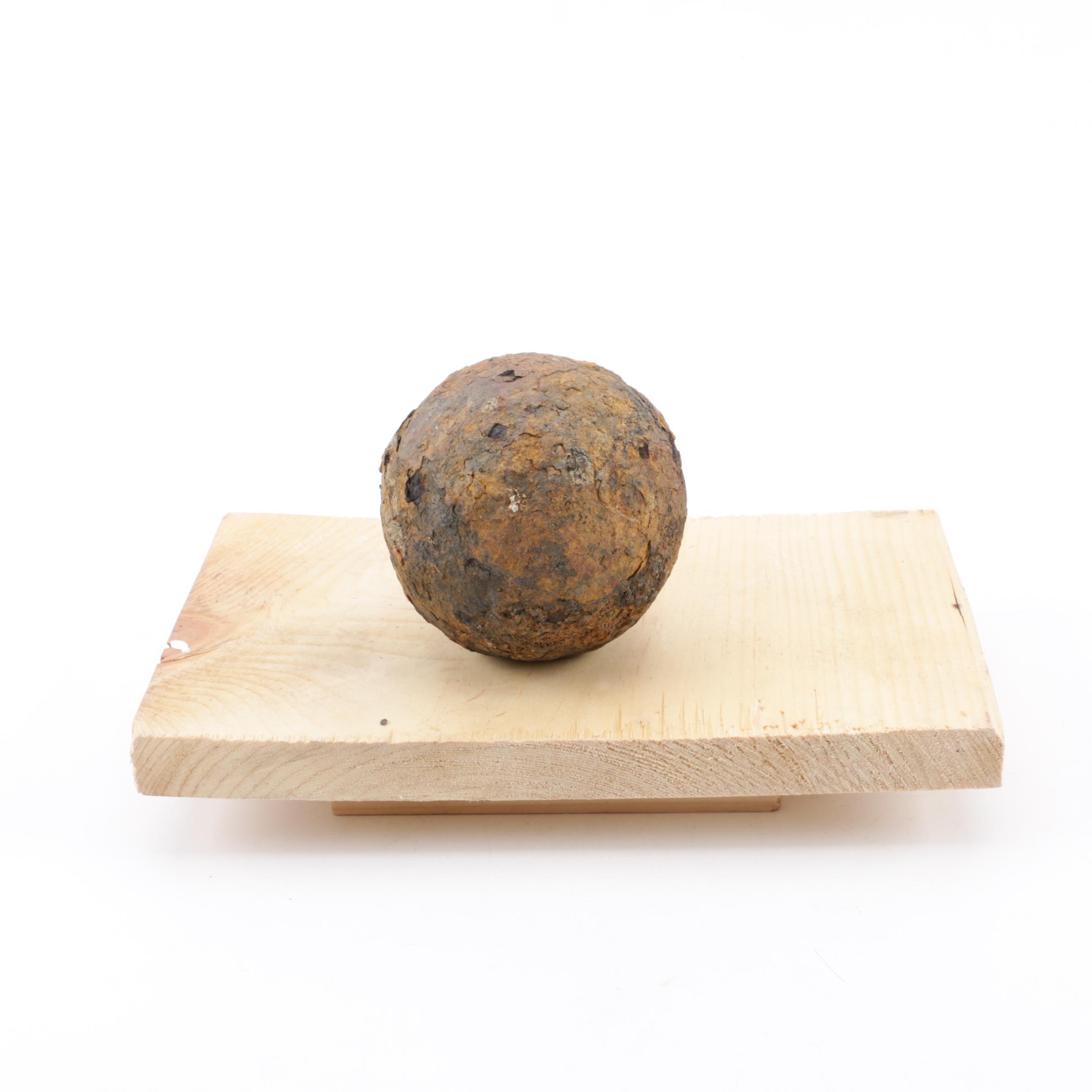 Cast Iron Cannon Ball