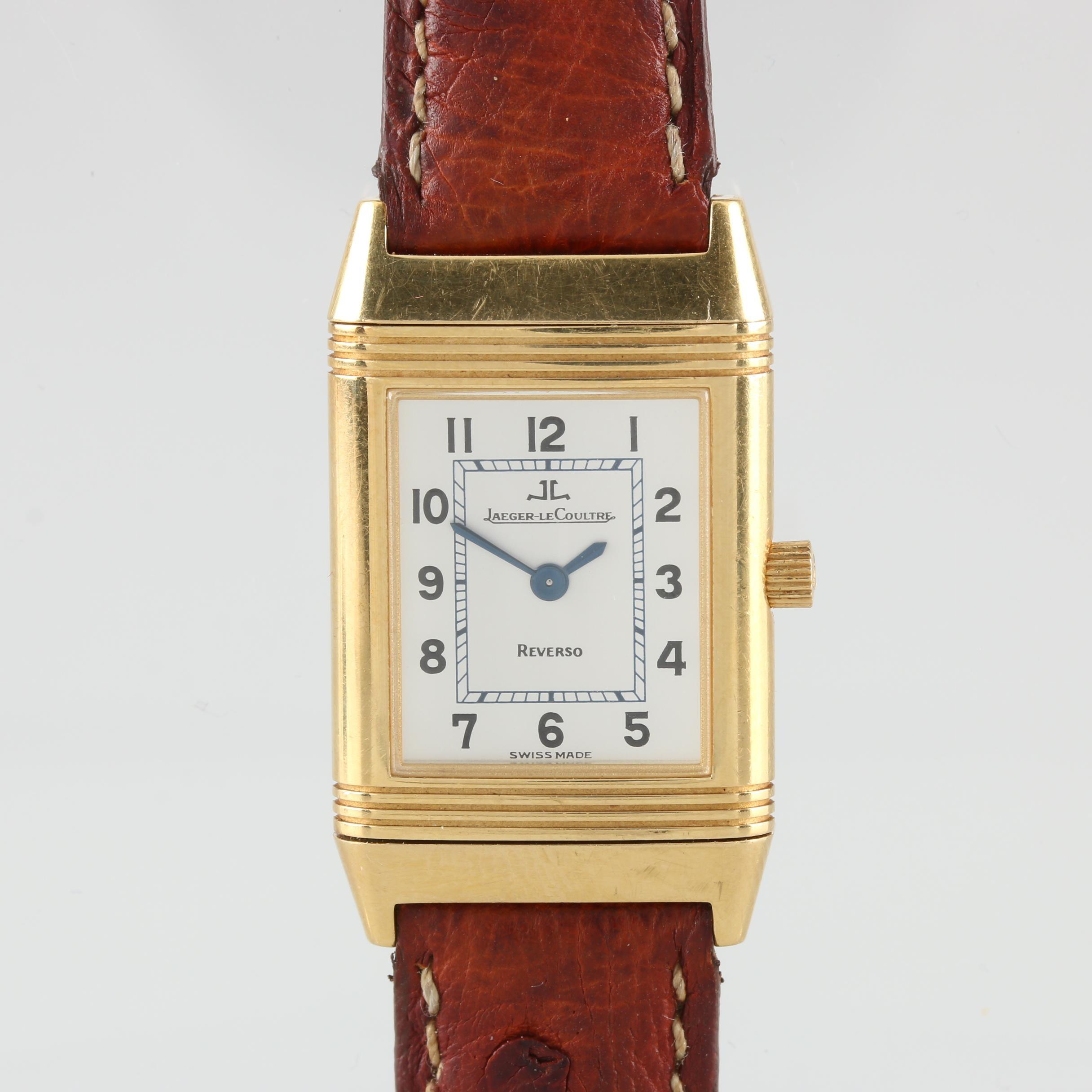 Jaeger-Lecoultre Reverso 18K Gold Quartz Wristwatch