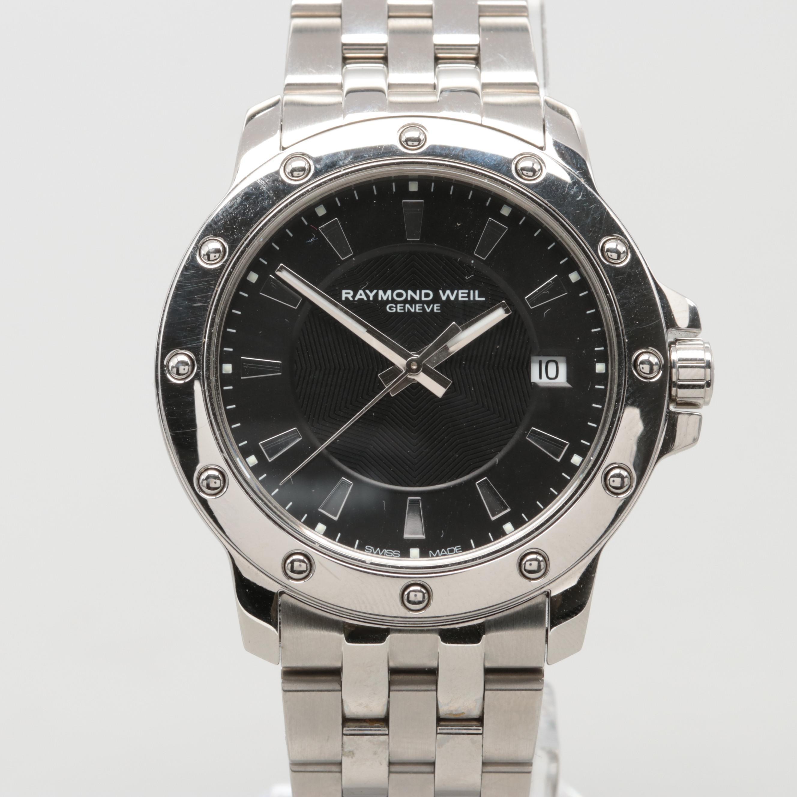 Raymond Weil Stainless Steel Tango 5599 Quartz Wristwatch