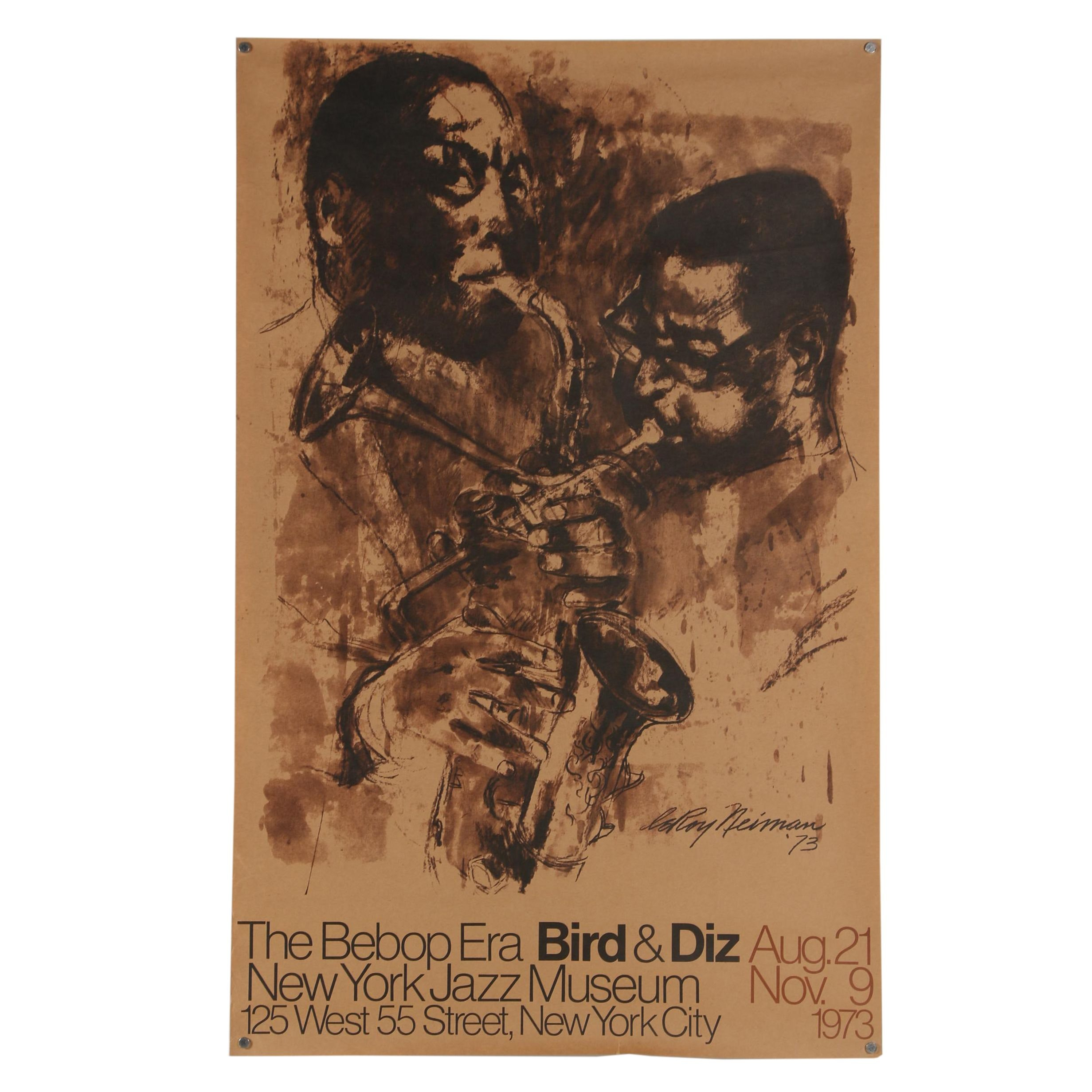 "1973 New York Jazz Museum Poster ""The Bebop Era: Bird & Diz"""