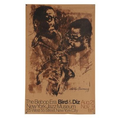 "1973 New York Jazz Museum Poster ""The Bebop Era: Bird & Diz"""