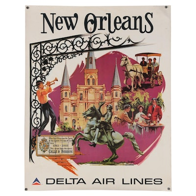 """Delta Airlines Promotional Poster """"New Orleans"""""""