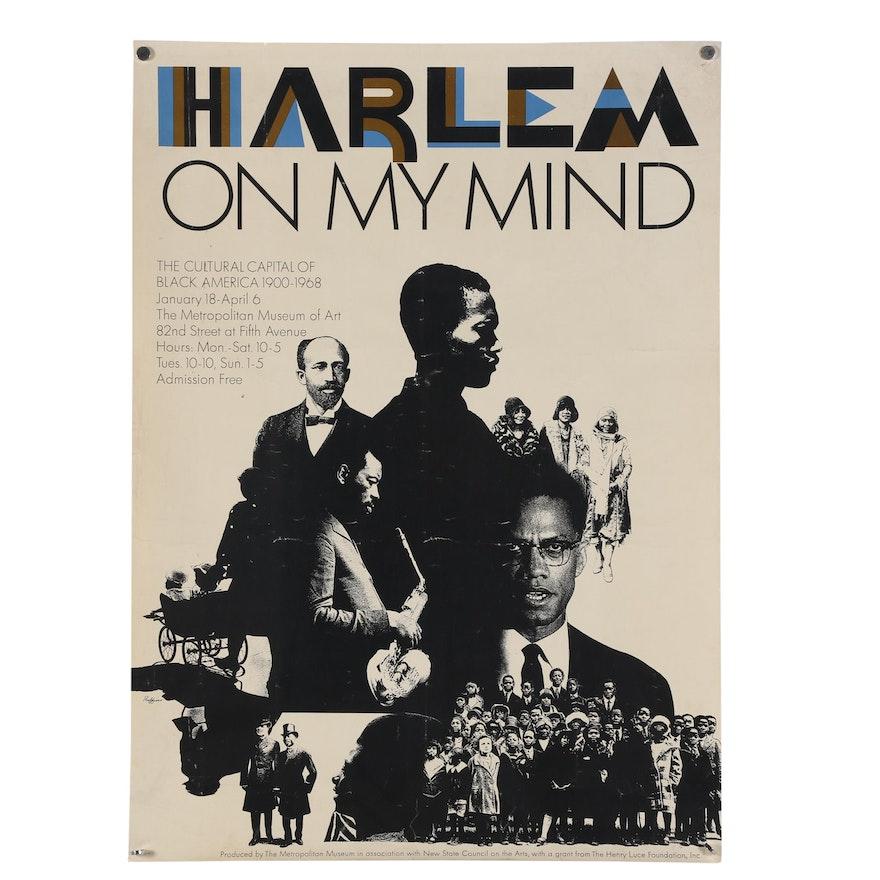 "1969 Metropolitan Museum of Art Promotional Poster ""Harlem on my Mind"""