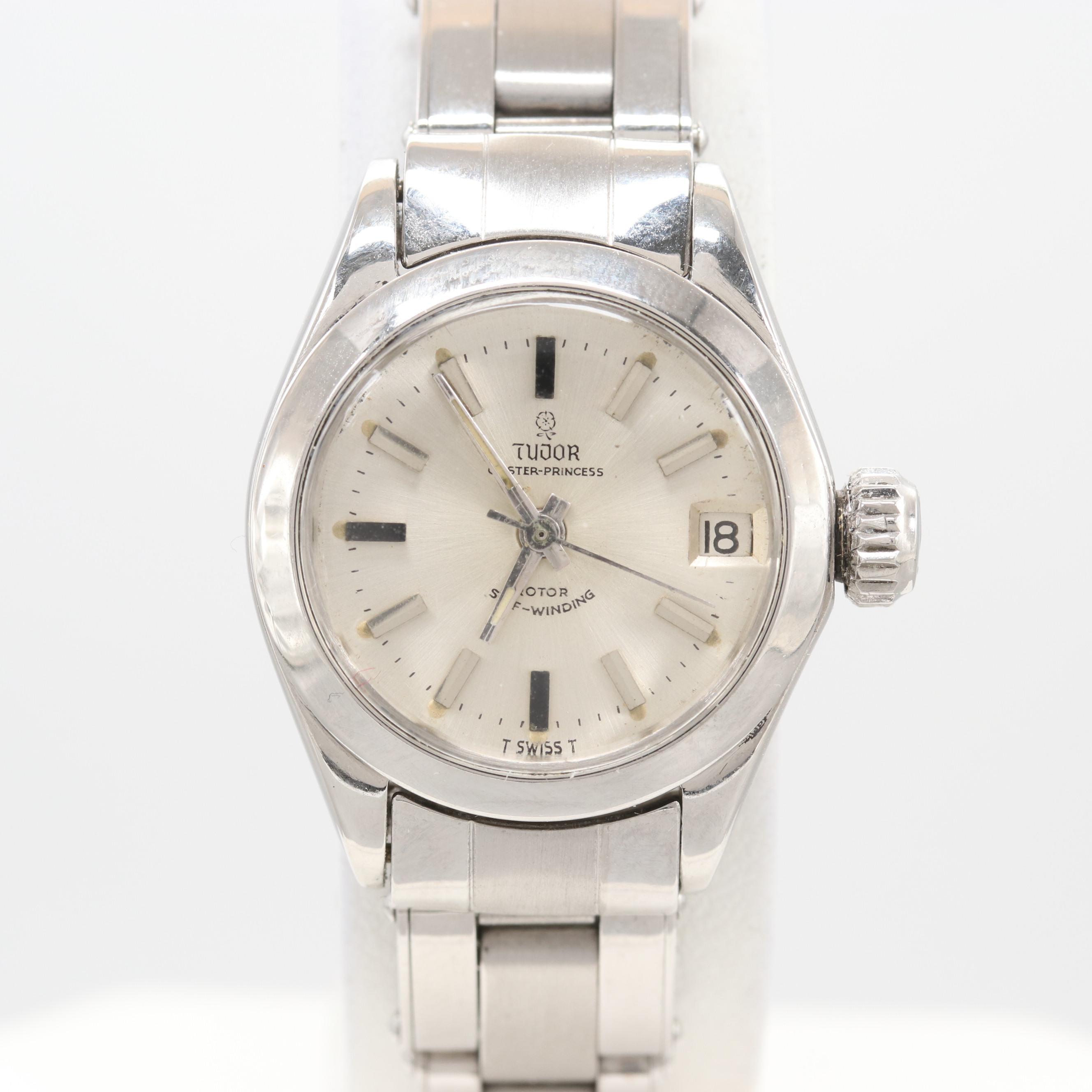 Circa 1968 Tudor Stainless Steel Oyster Princess Model#7576/0 Wristwatch