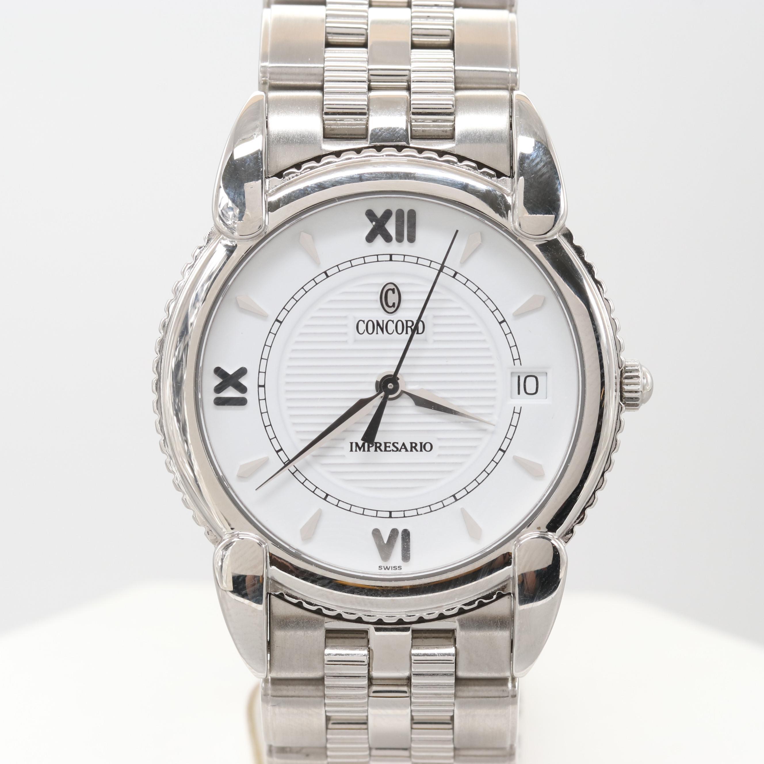Concord Impressario Stainless Steel Model# 14 C2 212 Wristwatch
