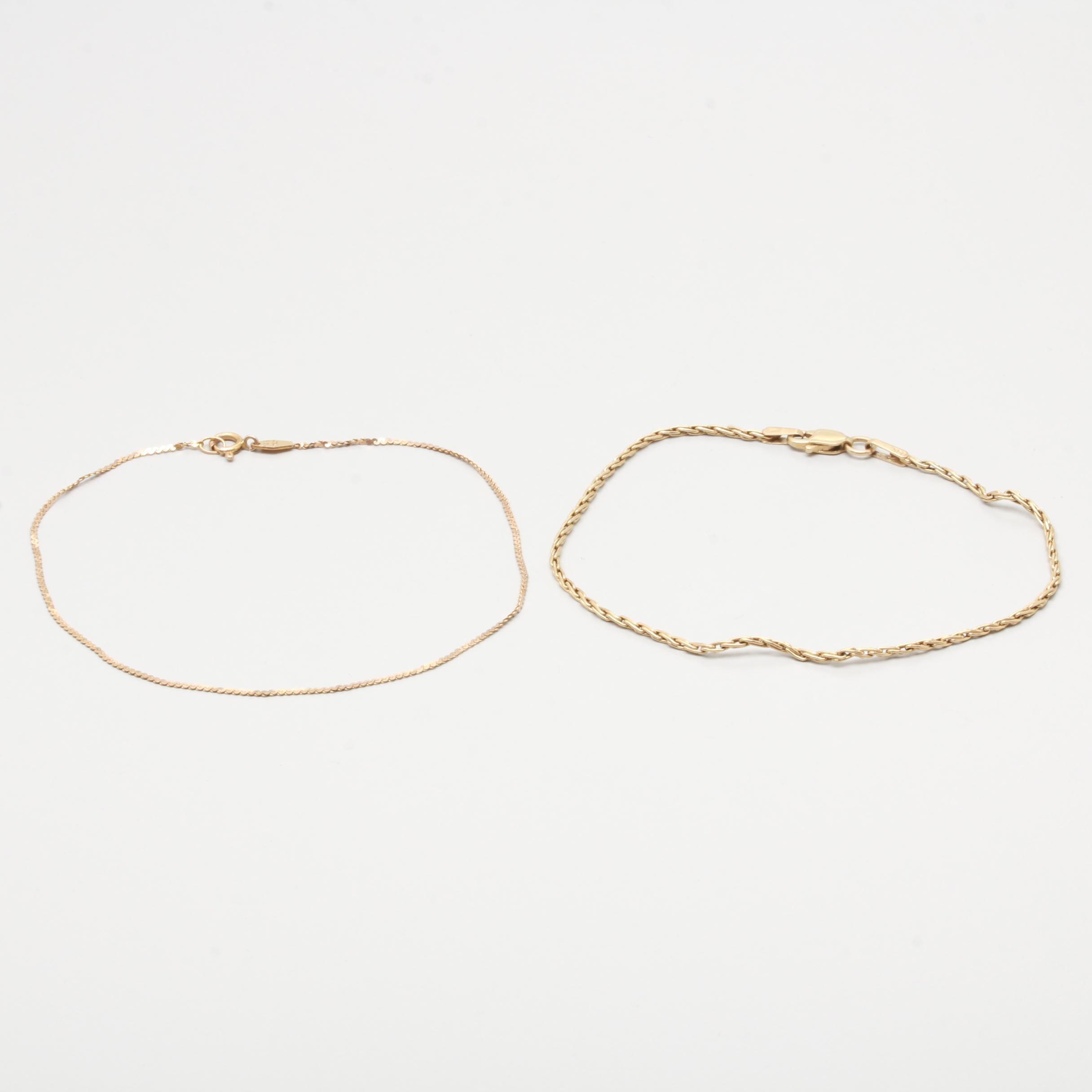 14K Yellow Gold Bracelets