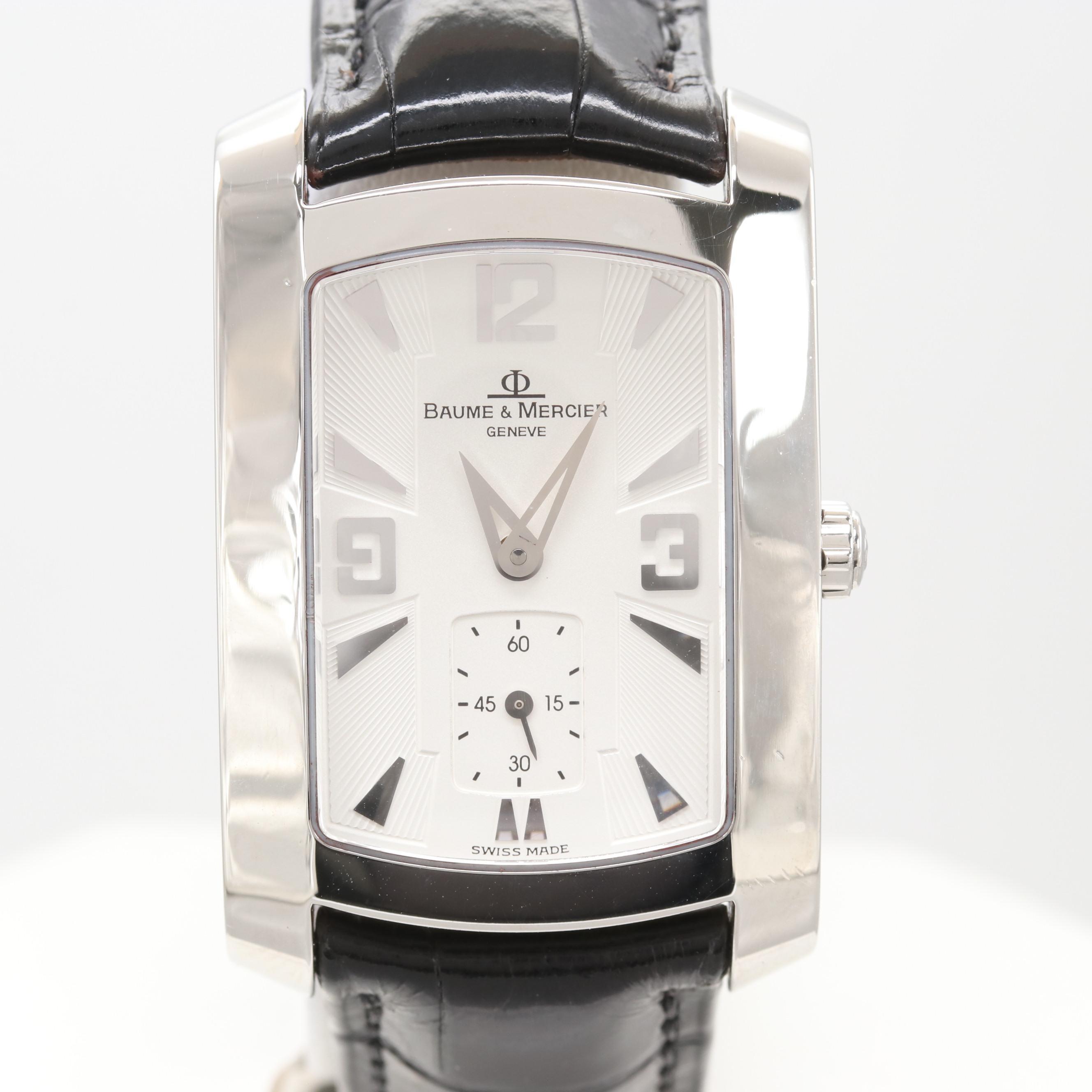 """Baume & Mercier Stainless Steel """"Hampton"""" Model# 65310 Wristwatch"""