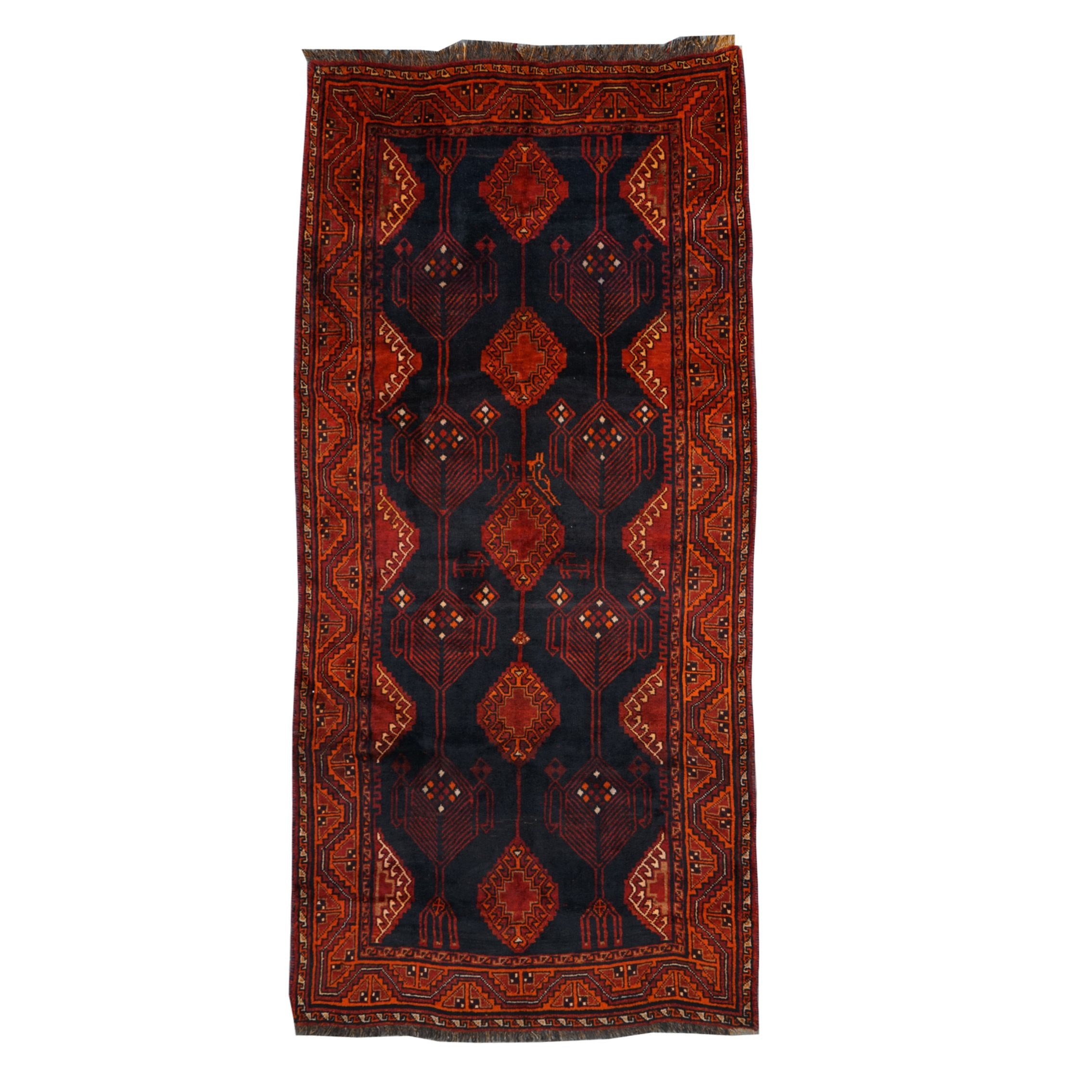 Hand-Knotted Southwest Persian Wool Long Rug