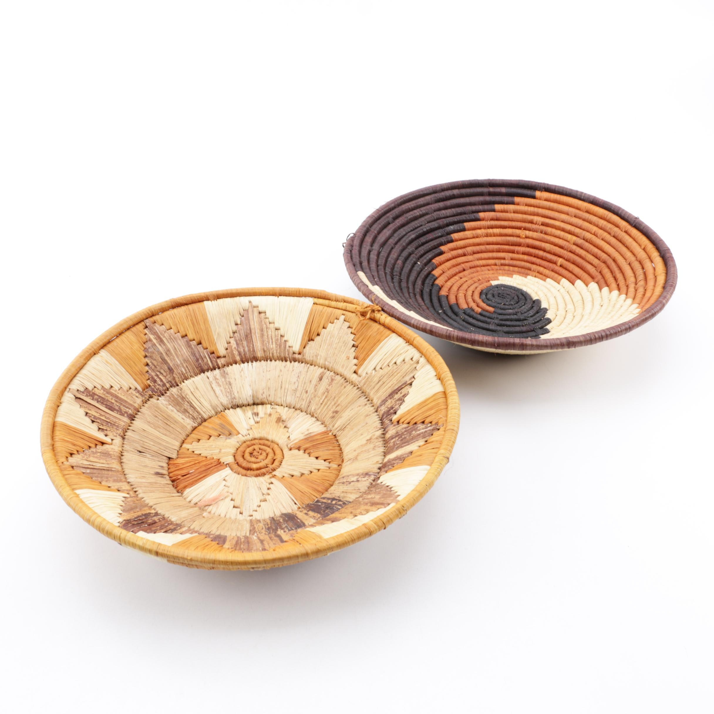 African Style Handwoven and Dyed Baskets