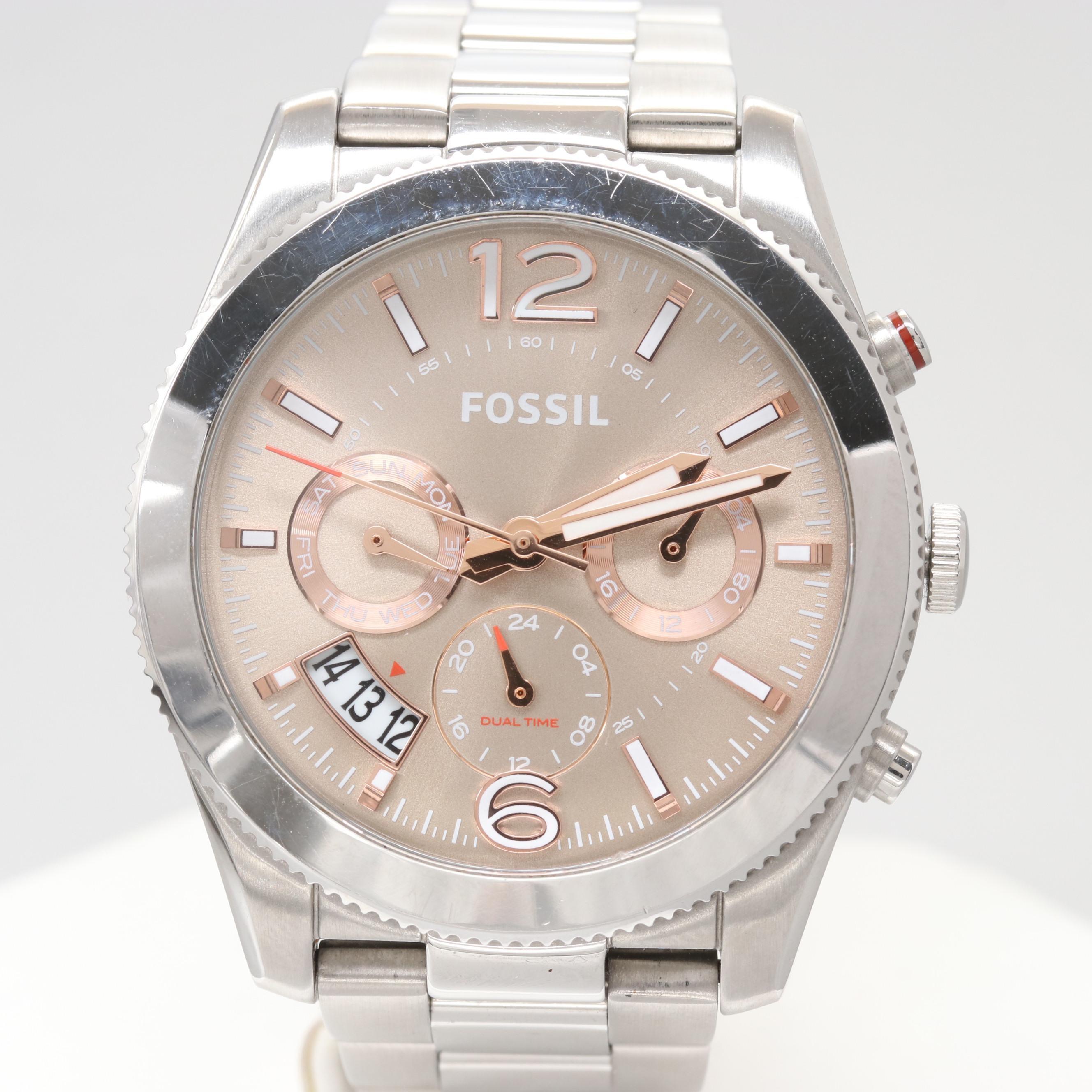 Fossil E54146 Stainless Steel Quartz Wristwatch