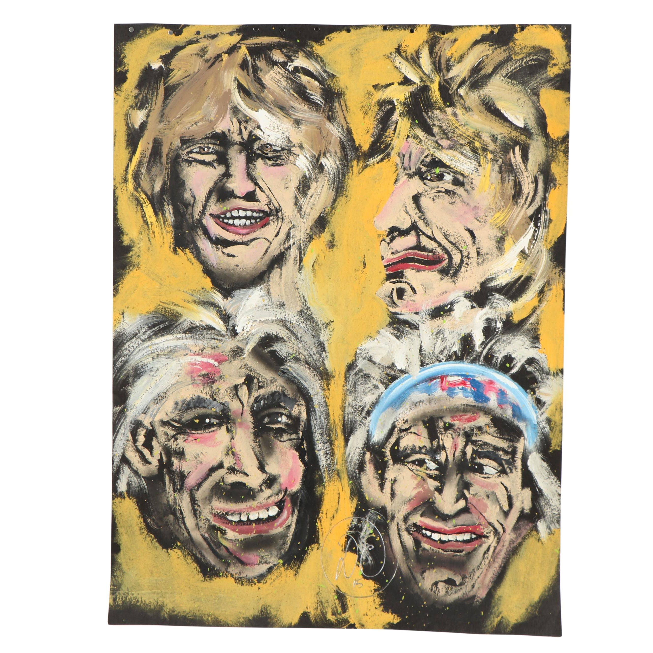 Acrylic Painting of The Rolling Stones