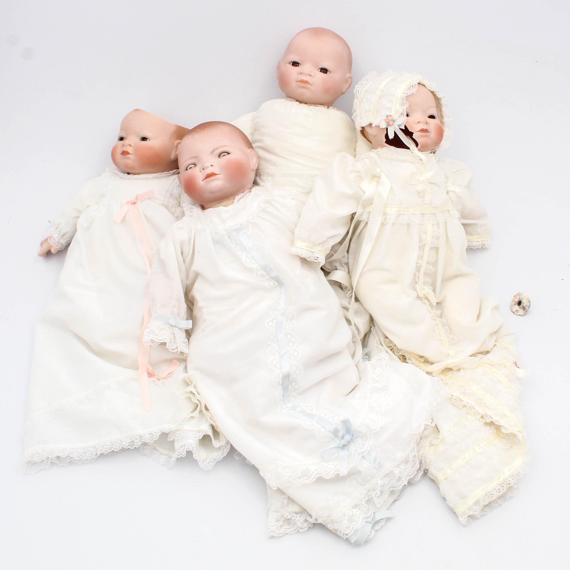 Vintage German Bisque Dolls Including Grace S. Putnam Bye-Lo