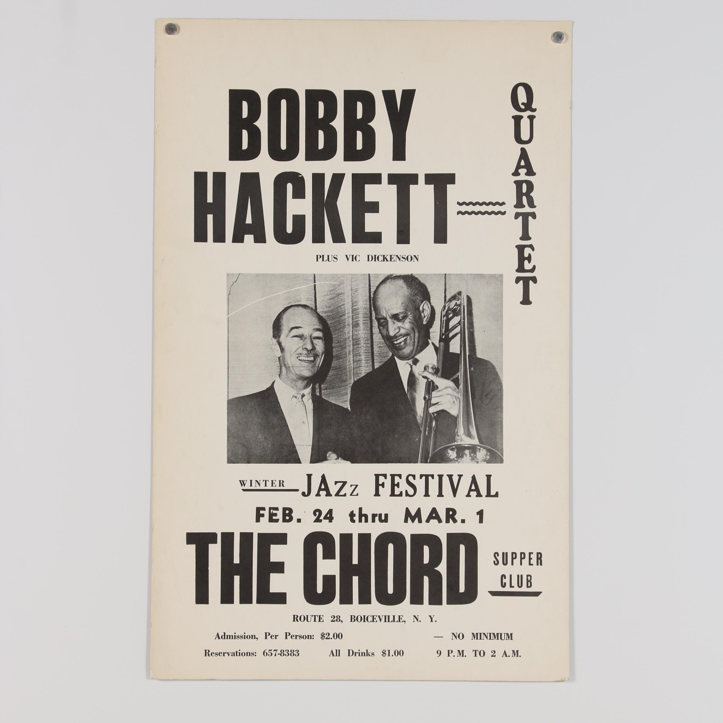 Bobby Hackett Quartet Festival Poster