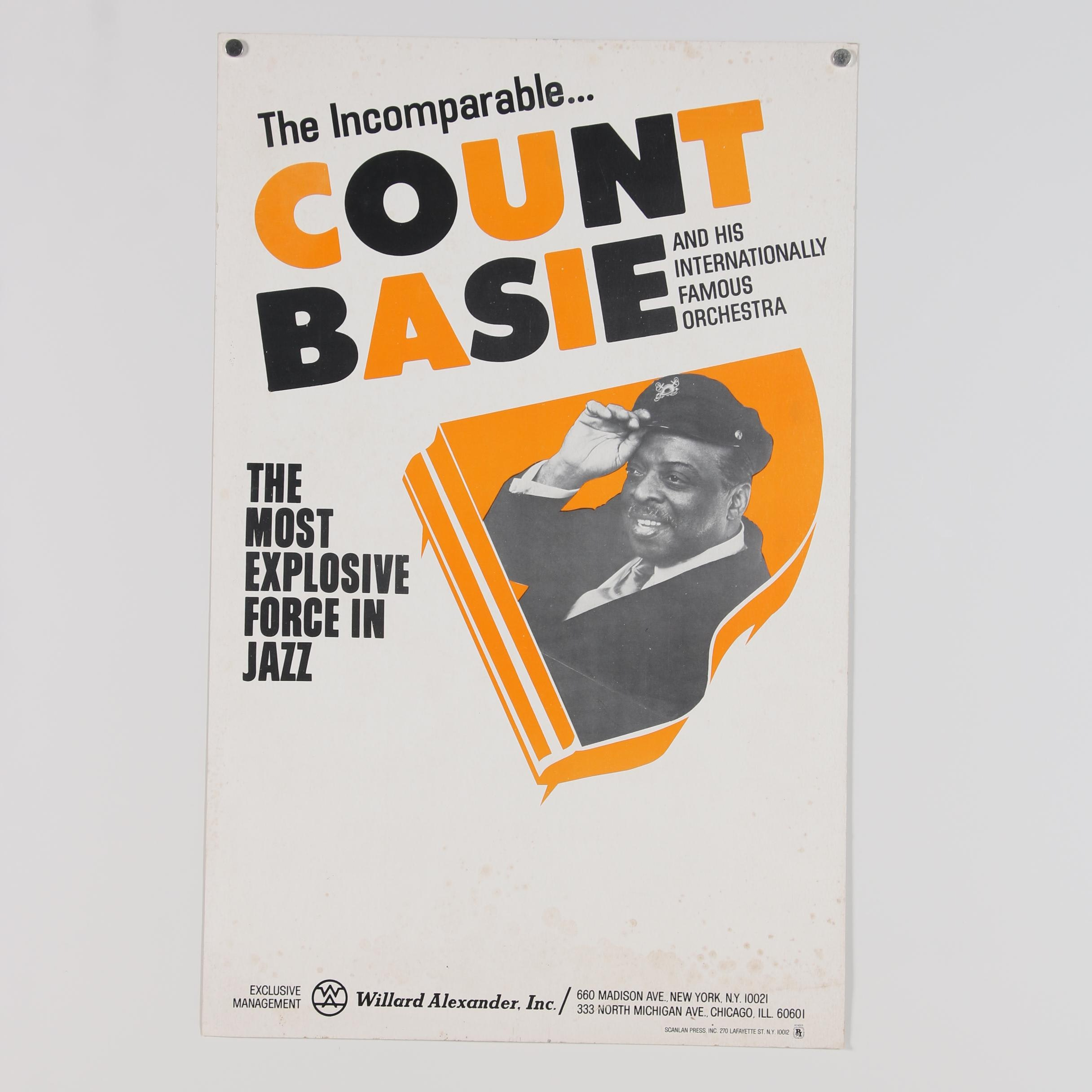 Count Basie Promotional Poster, 1975