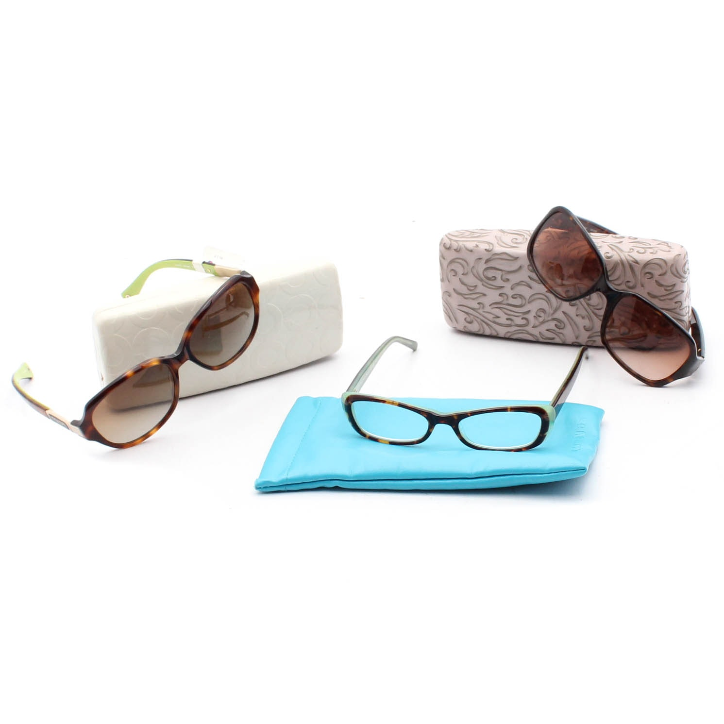 Two Pairs of Coach Sunglasses and Kate Spade New York Eyeglasses