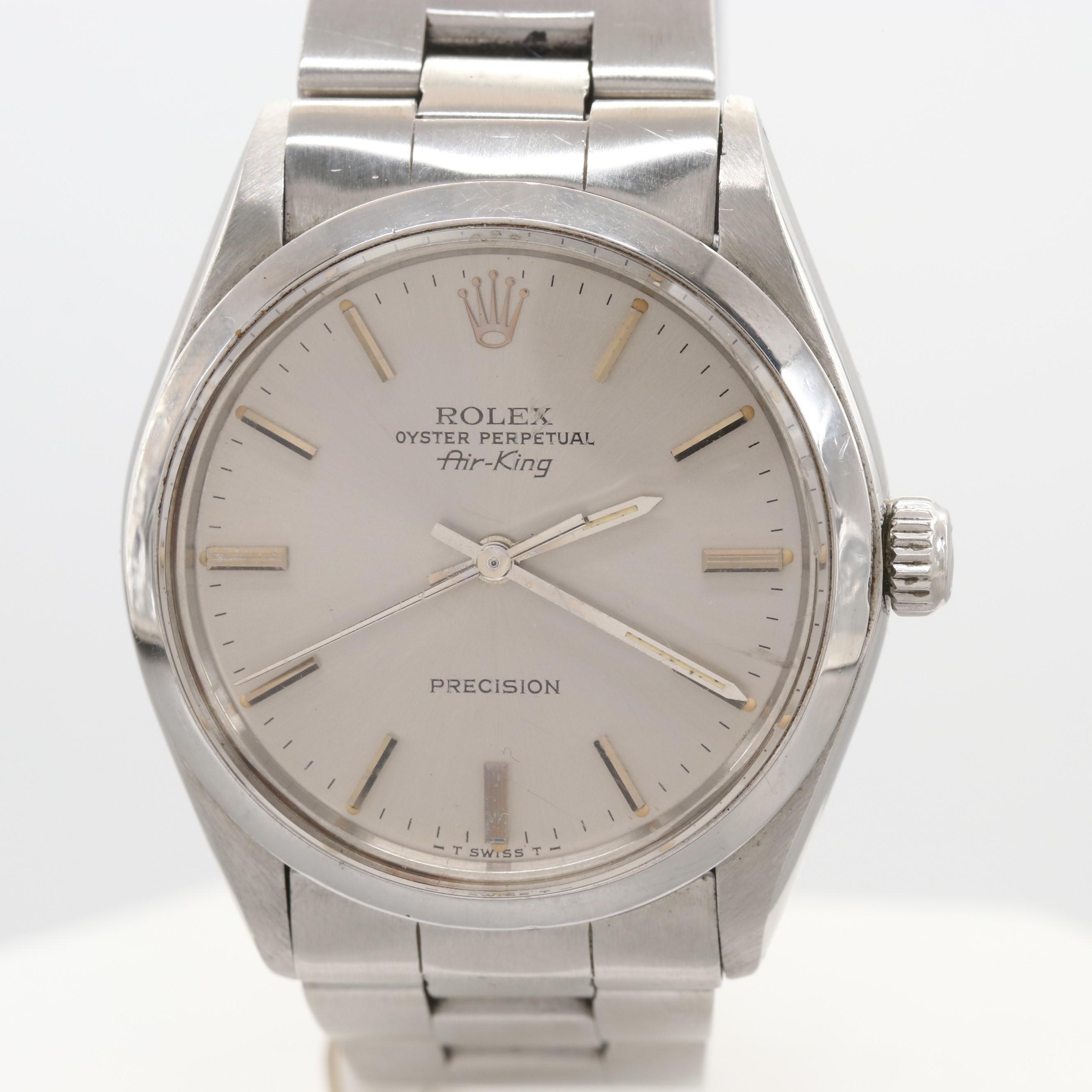 Vintage Rolex Air-King 5500 Stainless Steel Wristwatch