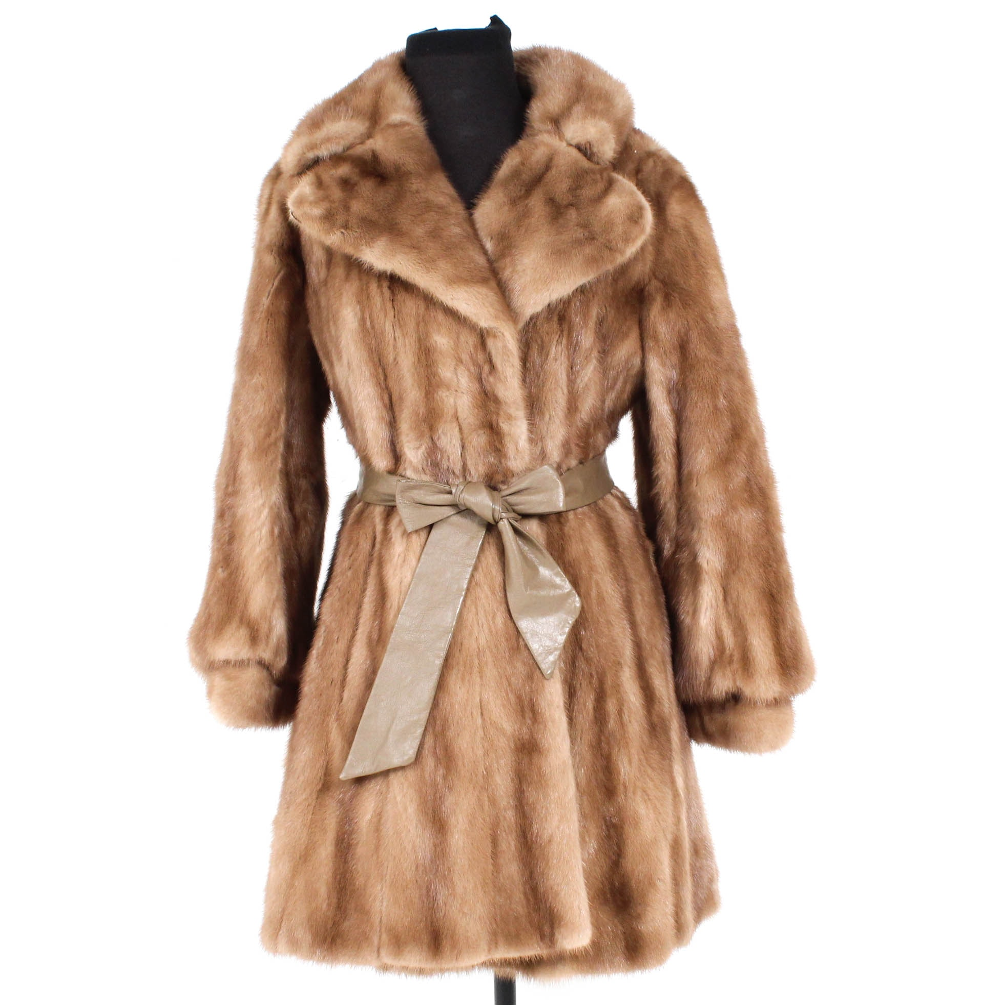 Vintage Autumn Haze Mink Fur Coat by L. Strauss for Ronley